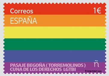 Correos emite un sello con la bandera LGTBI para celebrar el Día del Orgullo