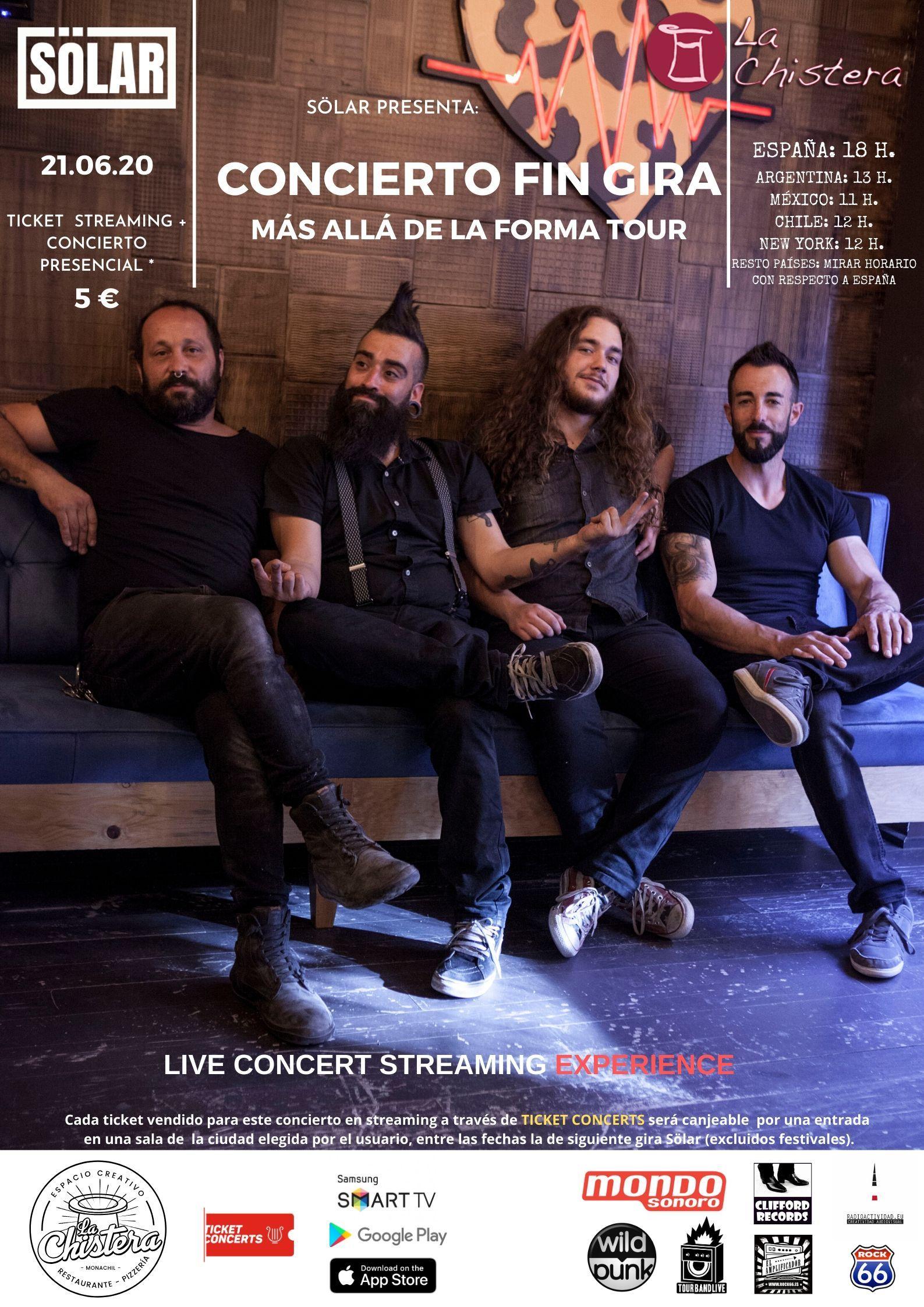 Sölar cierra gira en streaming desde La Chistera