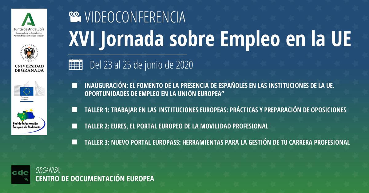 Abierto el plazo de inscripción para las XVI Jornadas sobre empleo en la Unión Europea (online)
