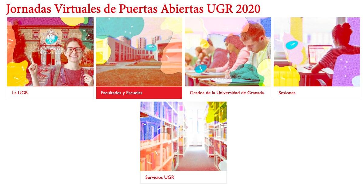 La UGR organiza unas Jornadas Virtuales de Puertas Abiertas
