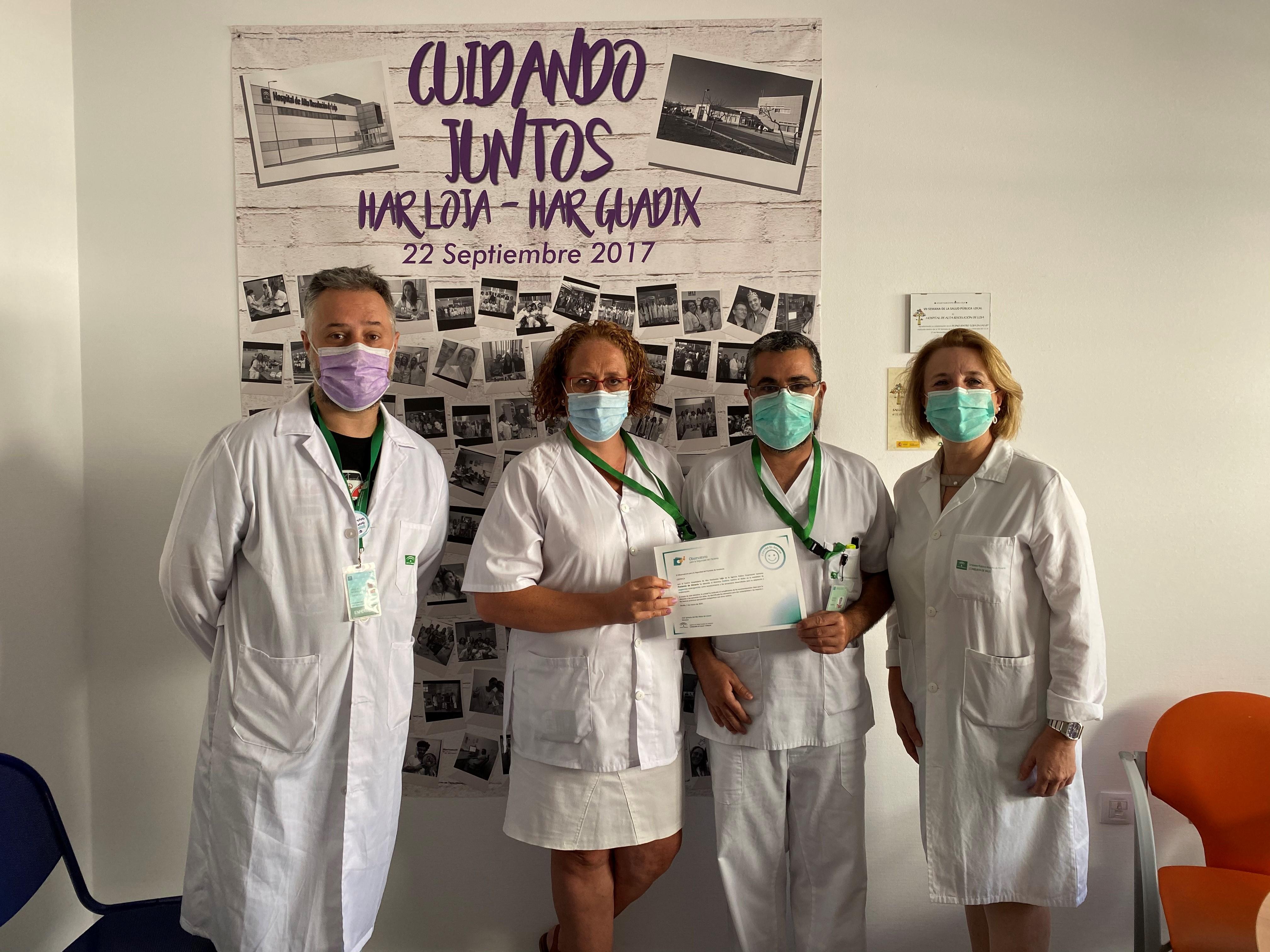 La Unidad de Urgencias del Hospital de Alta Resolución de Loja obtiene el reconocimiento de 'Centro contra el dolor'