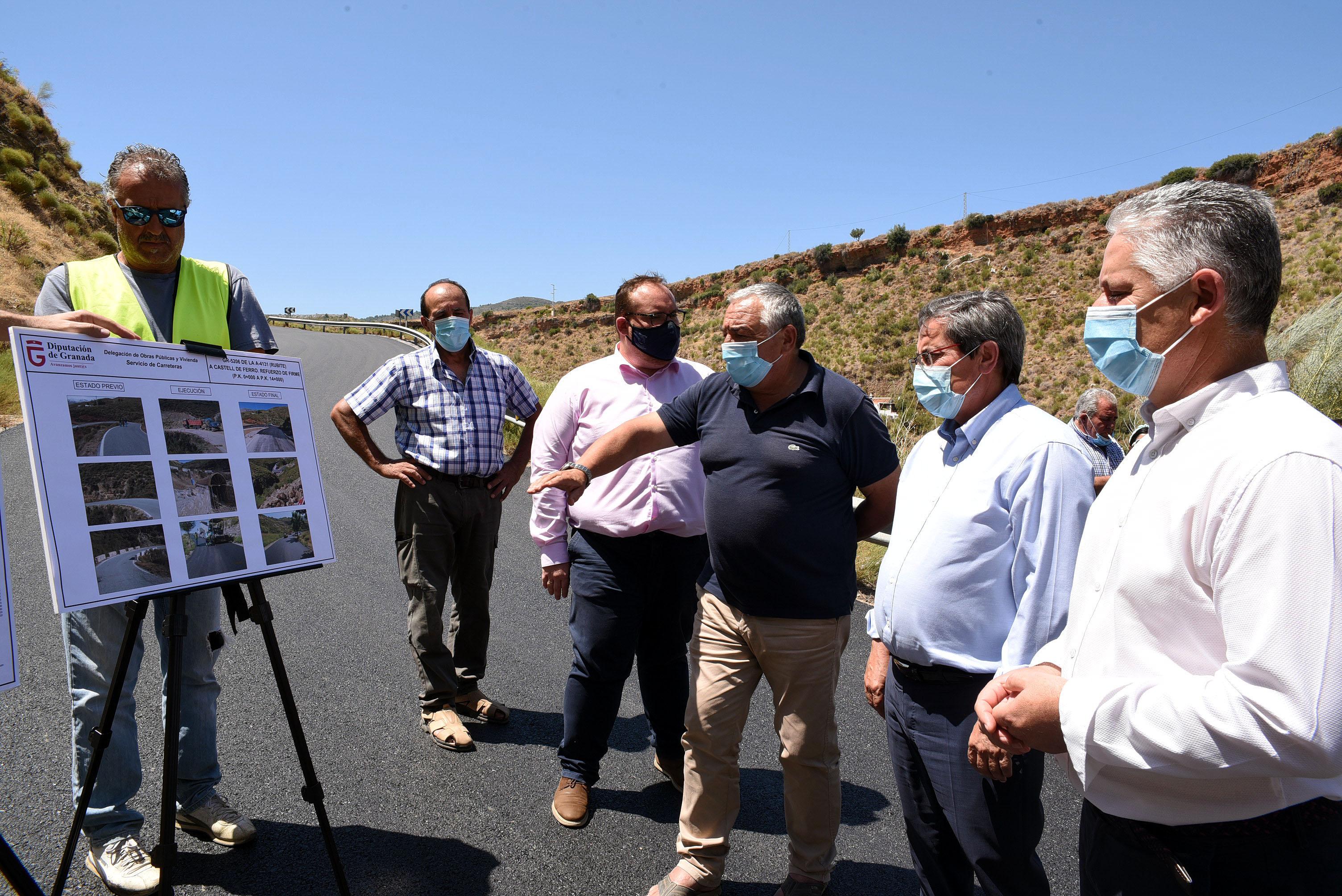 Diputación finaliza obras de mejora en las carreteras provinciales de Castell de Ferro y Rubite