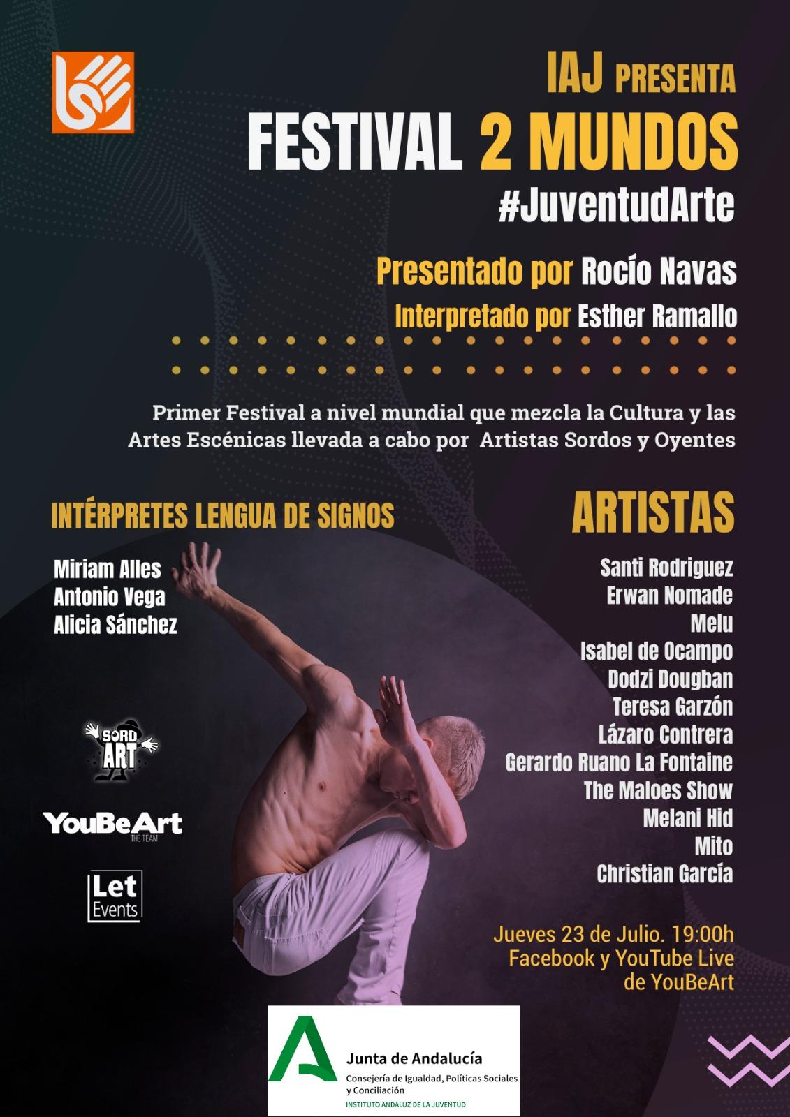 El IAJ une este jueves a artistas sordos y oyentes en el Festival 2 Mundos