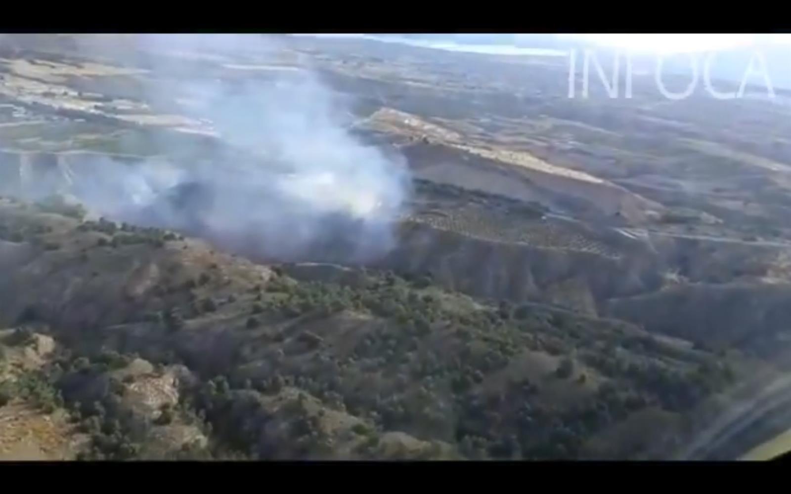 Extinguido el incendio forestal declarado en Guadix
