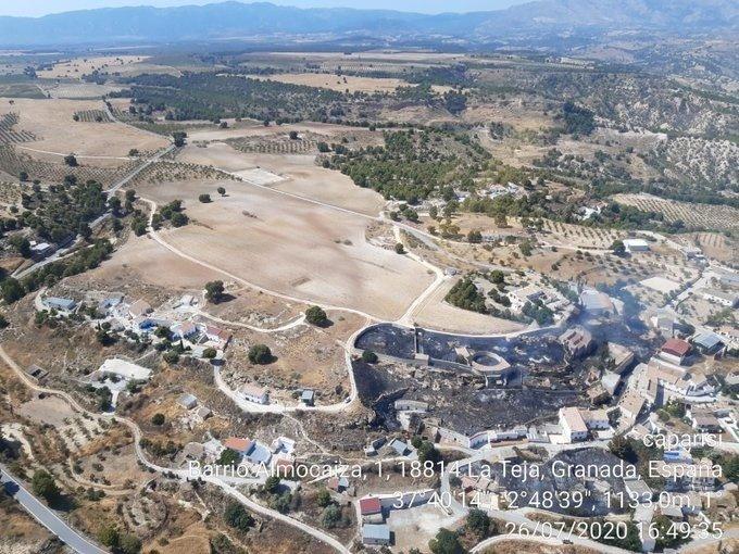 Estabilizado un incendio urbano en Cortes de Baza