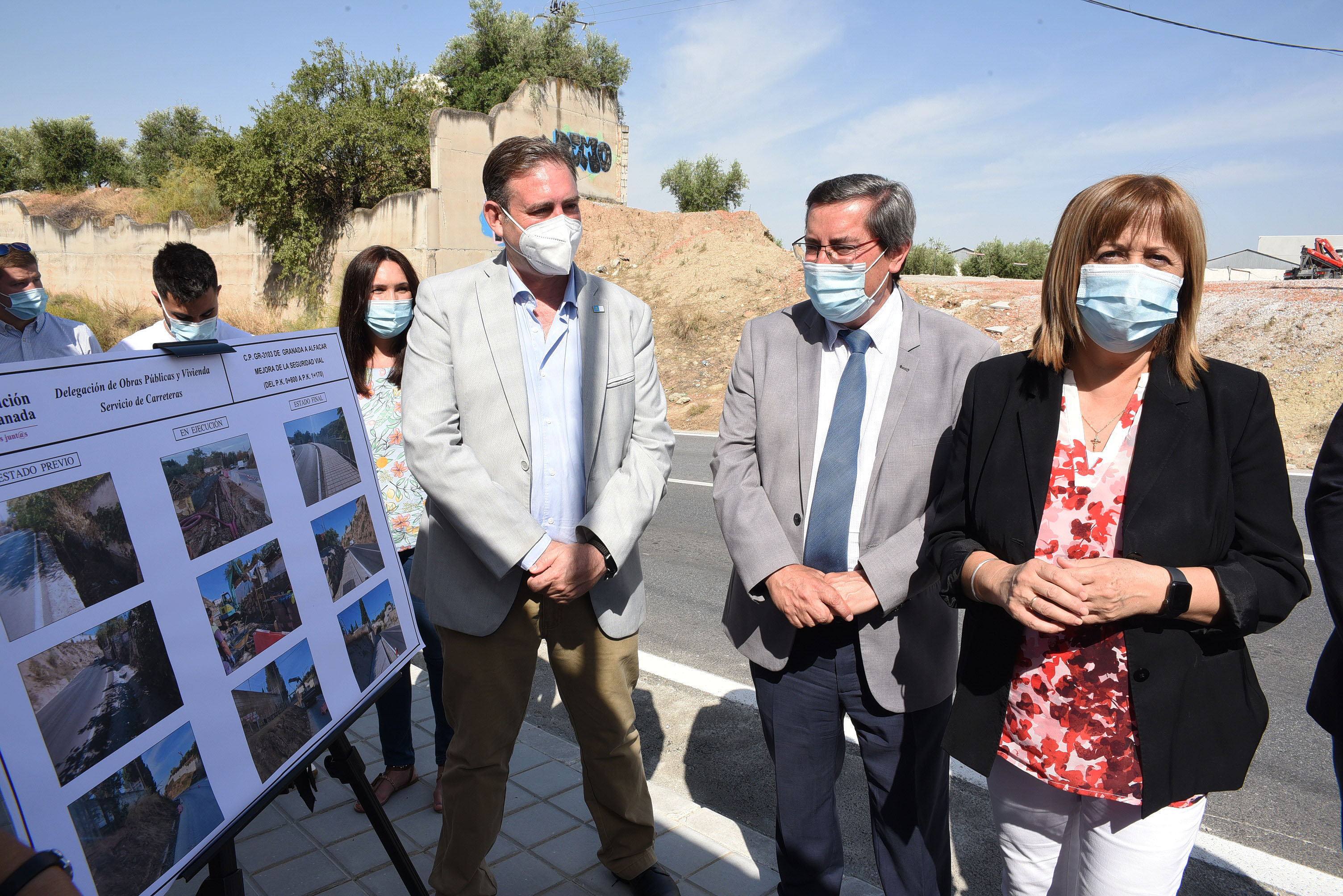 Diputación mejora la seguridad peatonal en la vía de acceso entre Jun y Alfacar