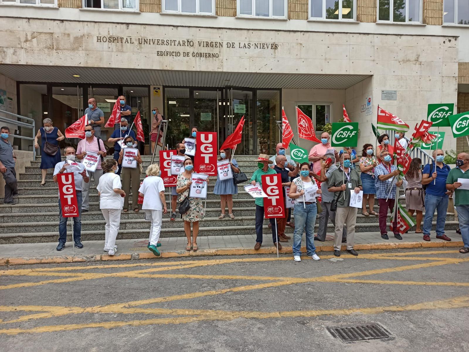 Nuevas movilizaciones en Granada contra la política del SAS y su negativa a acordar mejoras para el personal sanitario