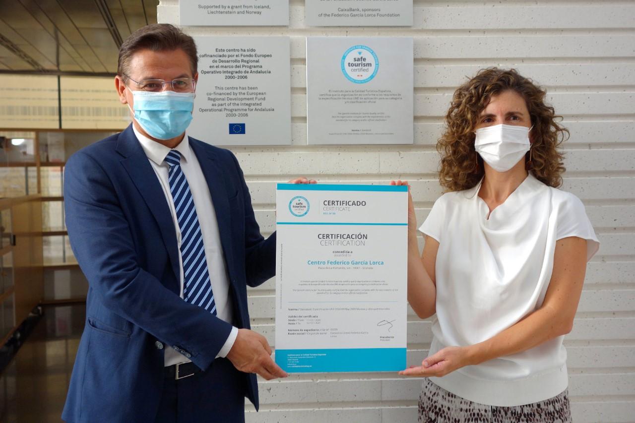 Le otorgan al Centro Lorca el sello de «Turismo certificado»