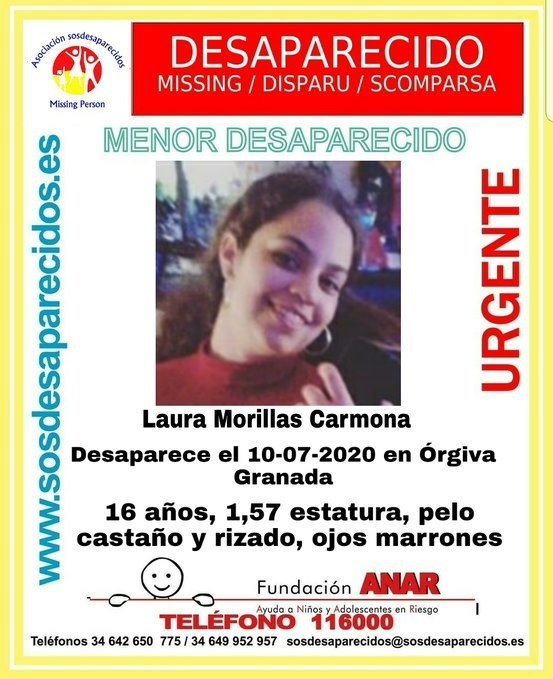 Encuentran en buen estado a la menor desaparecida en Órgiva