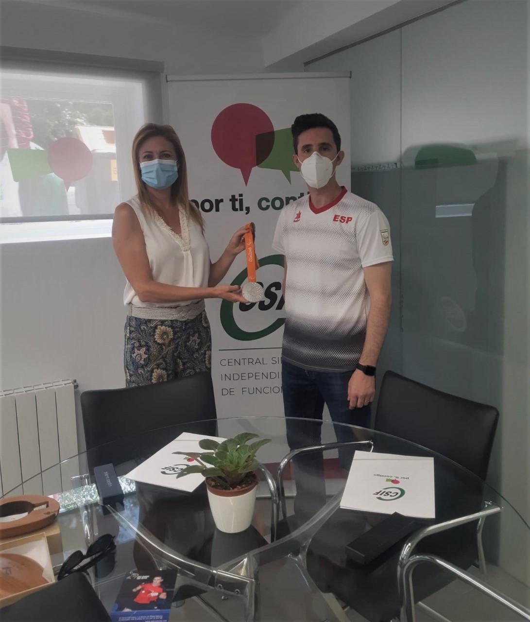 El sindicato CSIF Granada acompañará a José Manuel Ruiz a los paralímpicos de Tokio