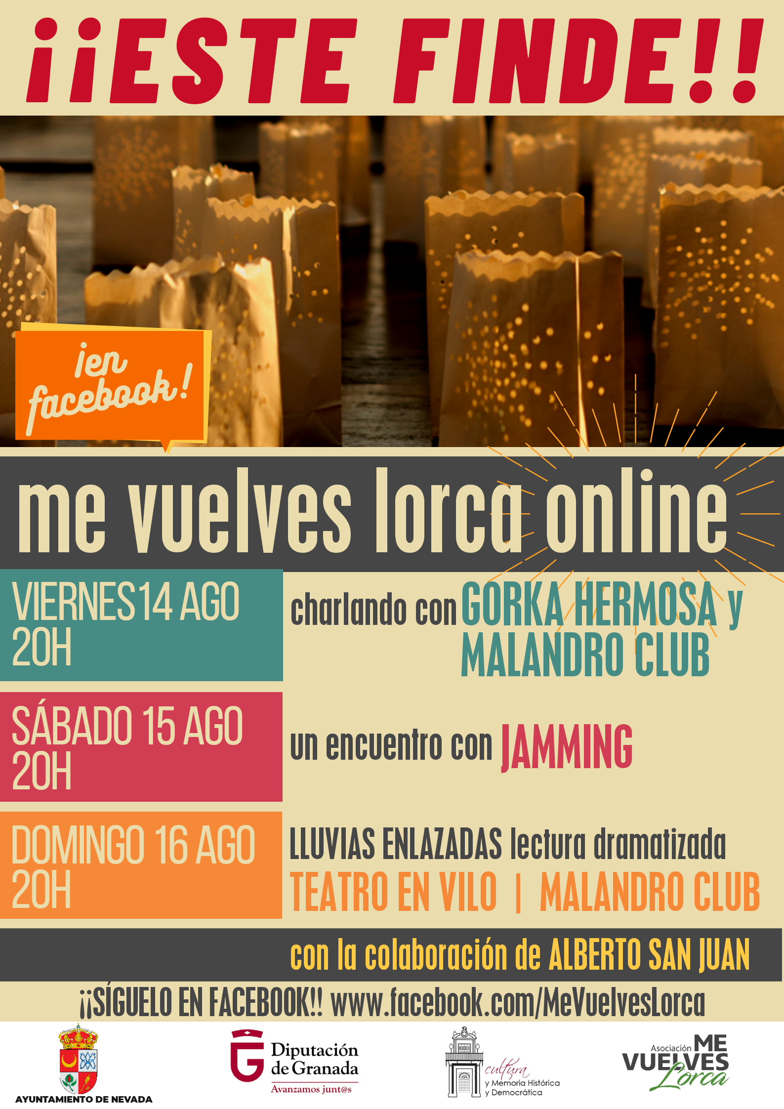 """Nevada celebra este fin de semana sus fiestas con el festival online """"Me Vuelves Lorca"""""""