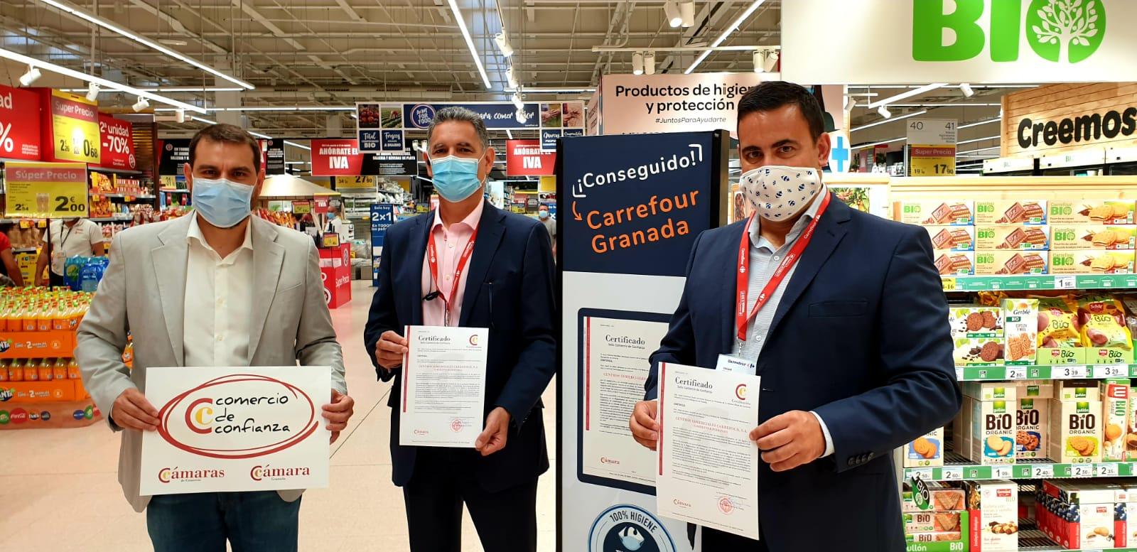 Carrefour obtiene el Sello de Comercio de Confianza de Cámara Granada