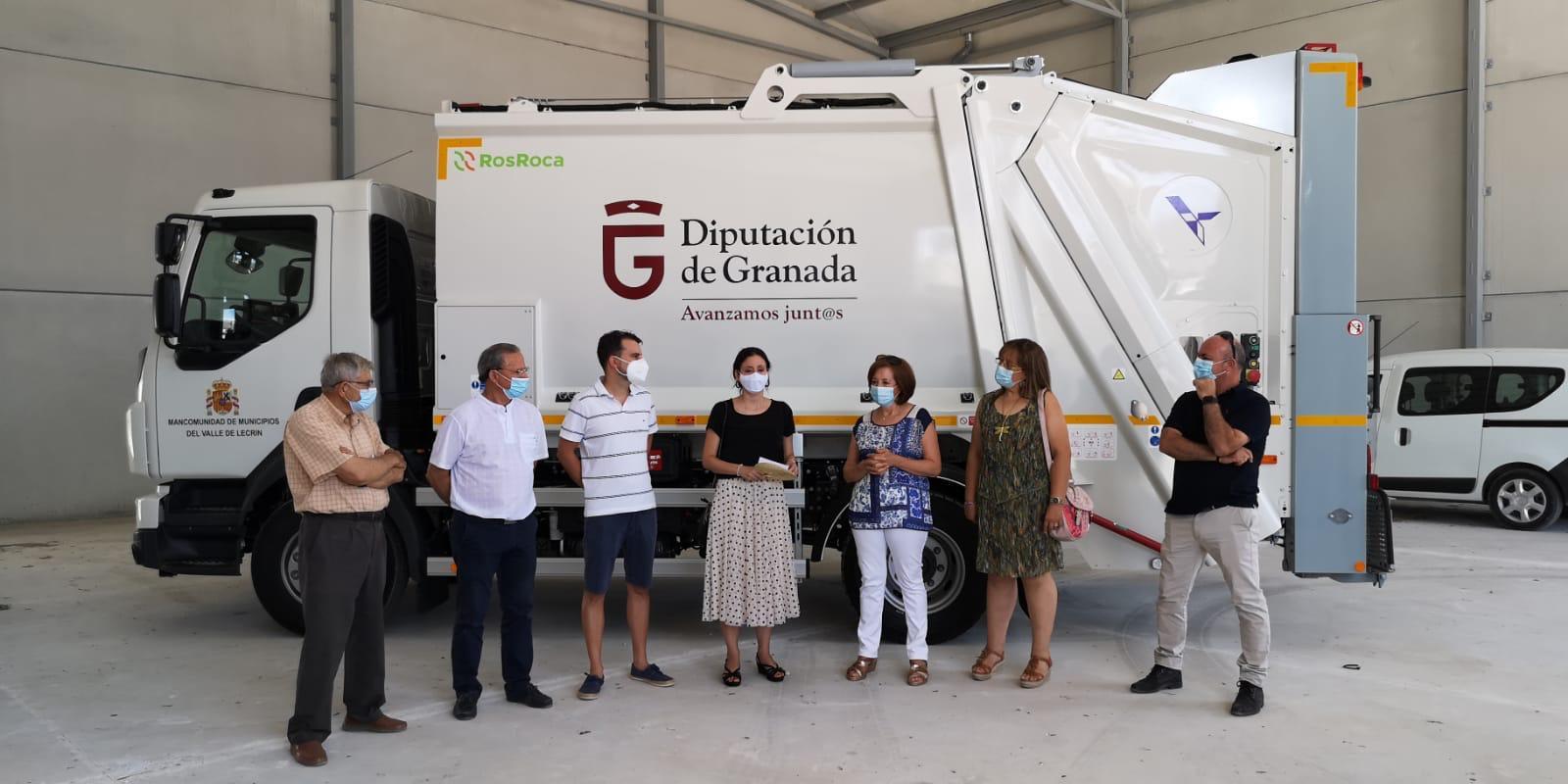 El Valle de Lecrín pone en servicio un nuevo vehículo de gran capacidad para la recogida de residuos