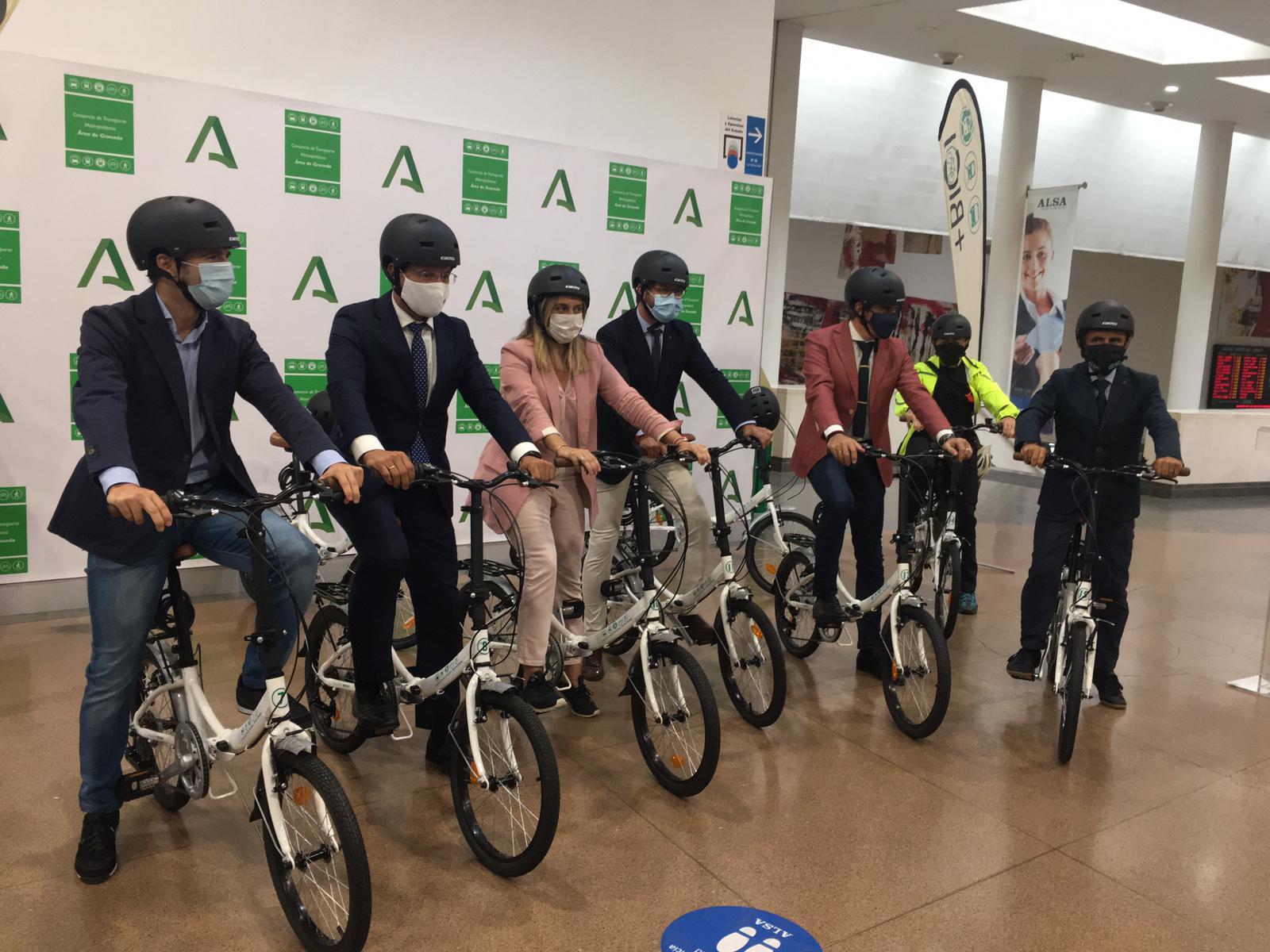 El Consorcio de Granada incorpora el servicio de préstamo gratuito de bicicletas BUS+BICI