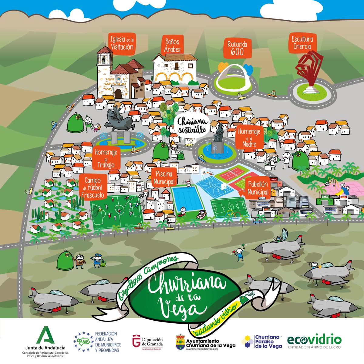 Churriana aumentó en un 109% su reciclaje de envases de vidrio en los meses de diciembre y enero