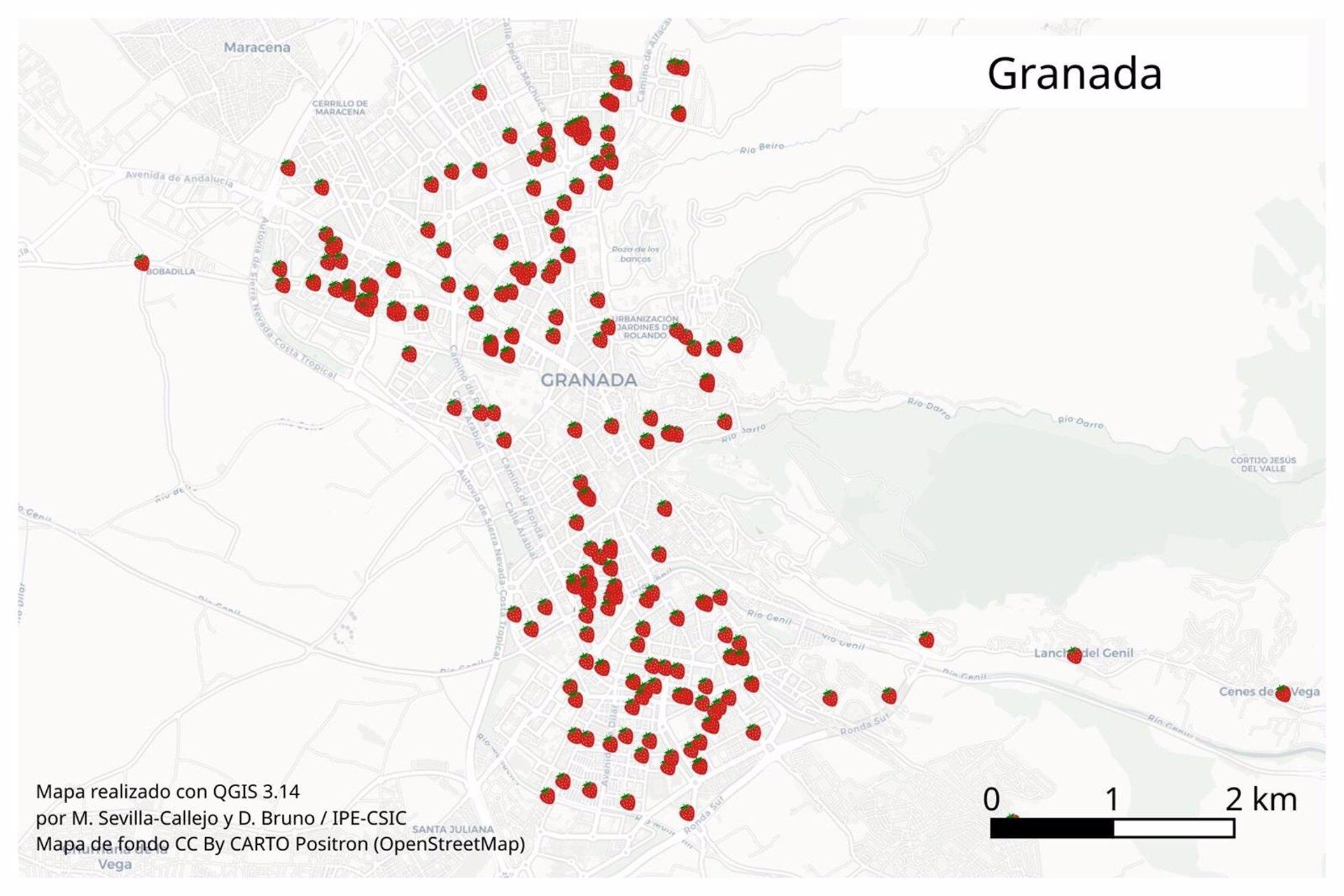 Medio millar de científicos ciudadanos medirán la calidad del aire de Granada con plantas de fresas