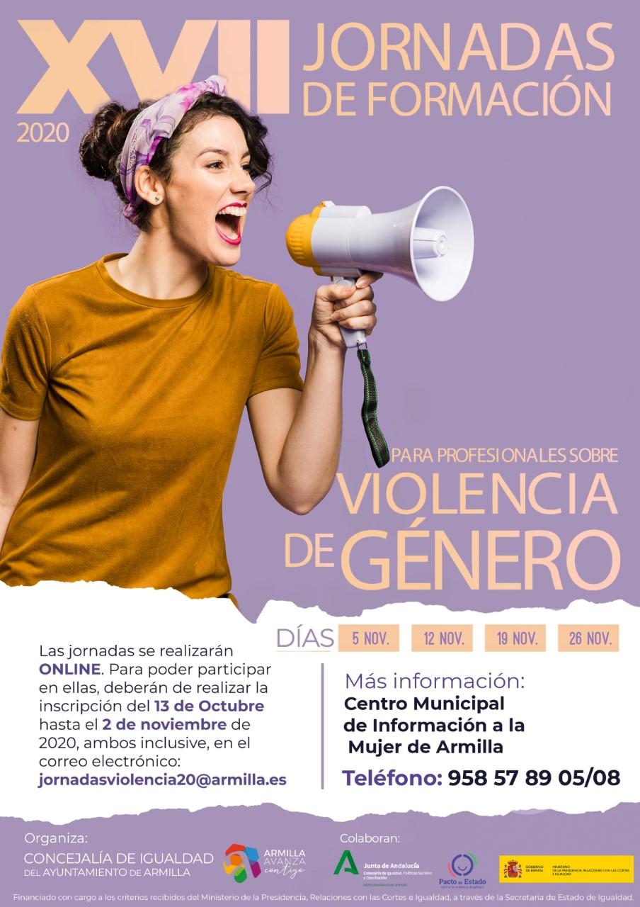 Armilla organiza on line las XVII jornadas de Formación para profesionales sobre violencia de Género
