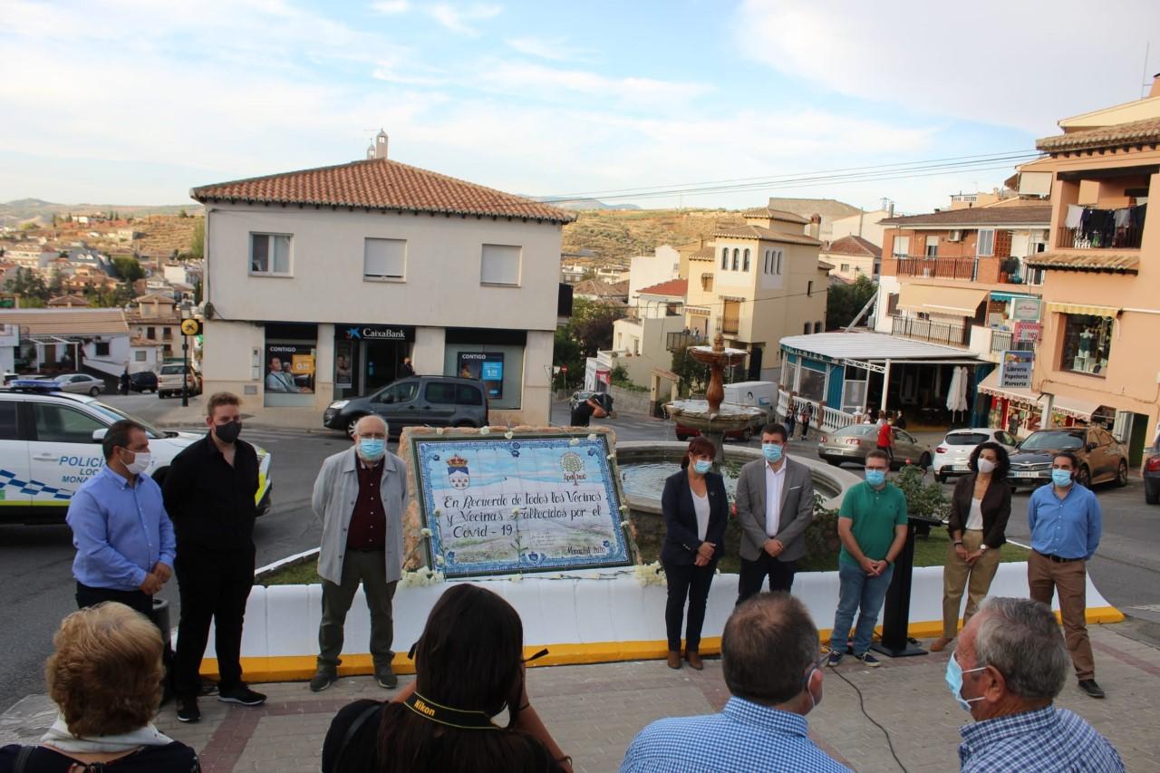 Homenaje a los fallecidos por covid en Monachil