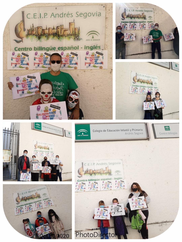 """Bajo el lema """"Susto o muerte"""" las familias y el personal del CEIP Andrés Segovia exigen el arreglo de la calefacción"""