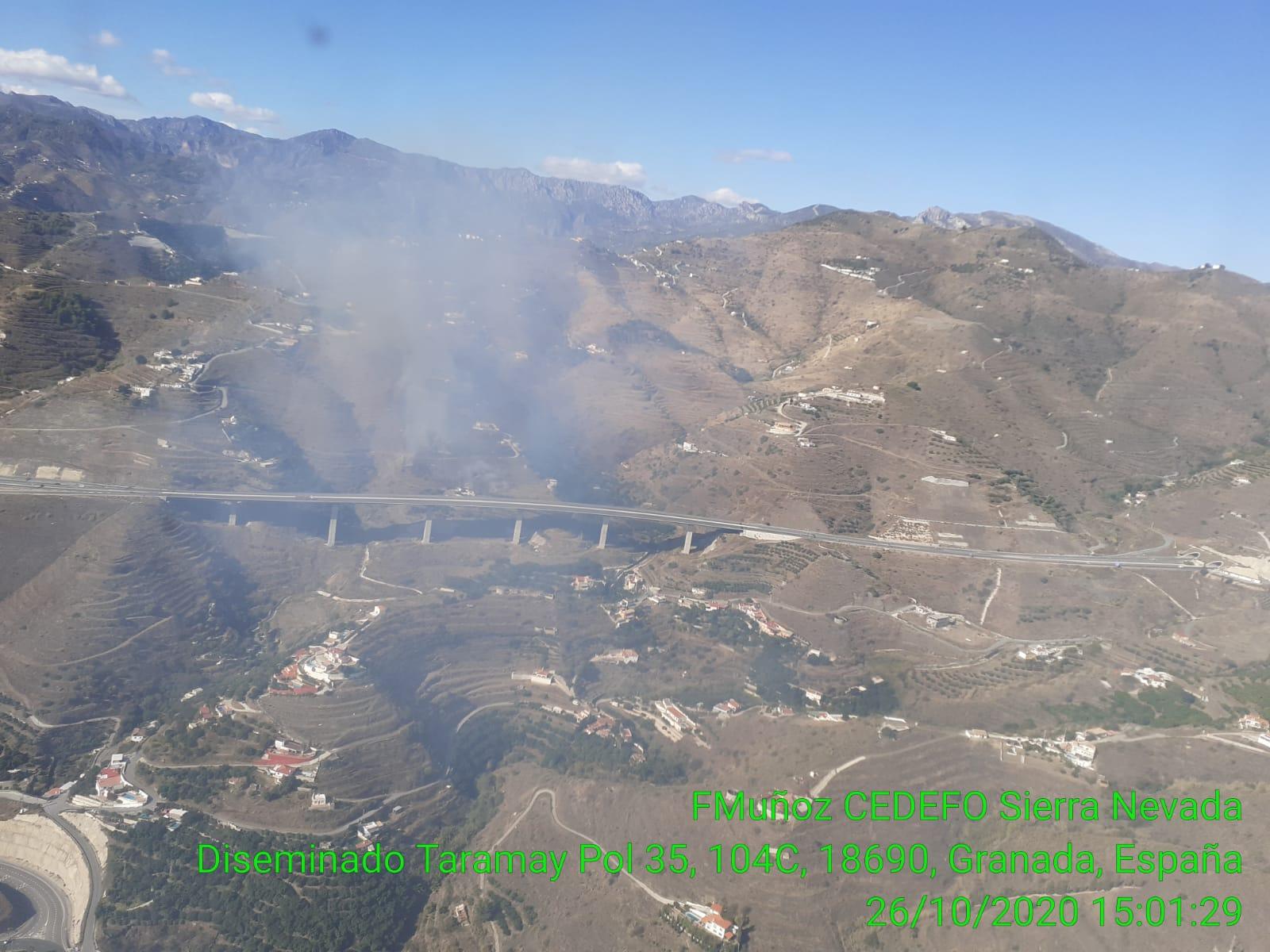 Estabilizado un incendio forestal en Almuñécar