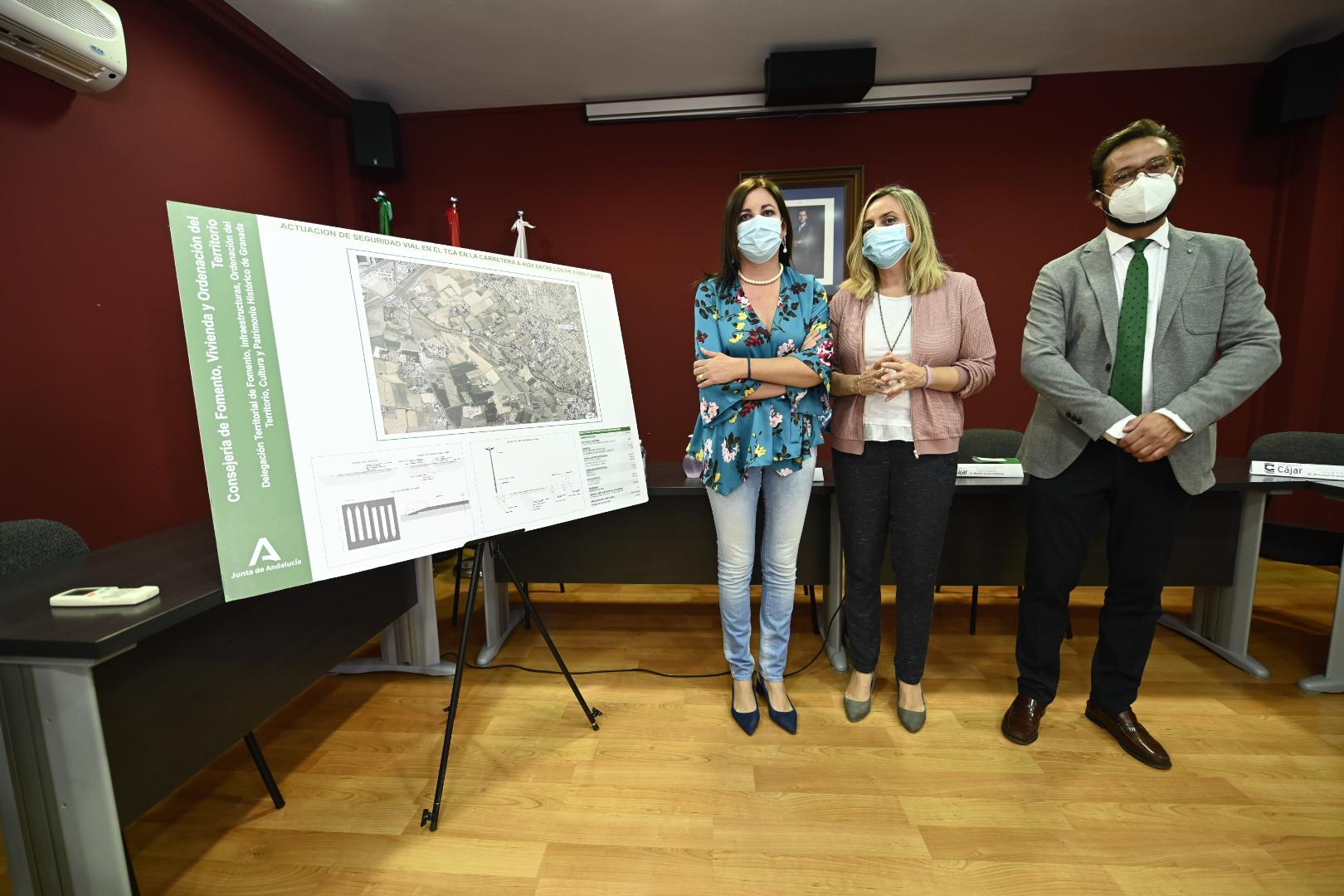 Adjudicas las obras para mejorar la seguridad vial en el acceso a Cájar