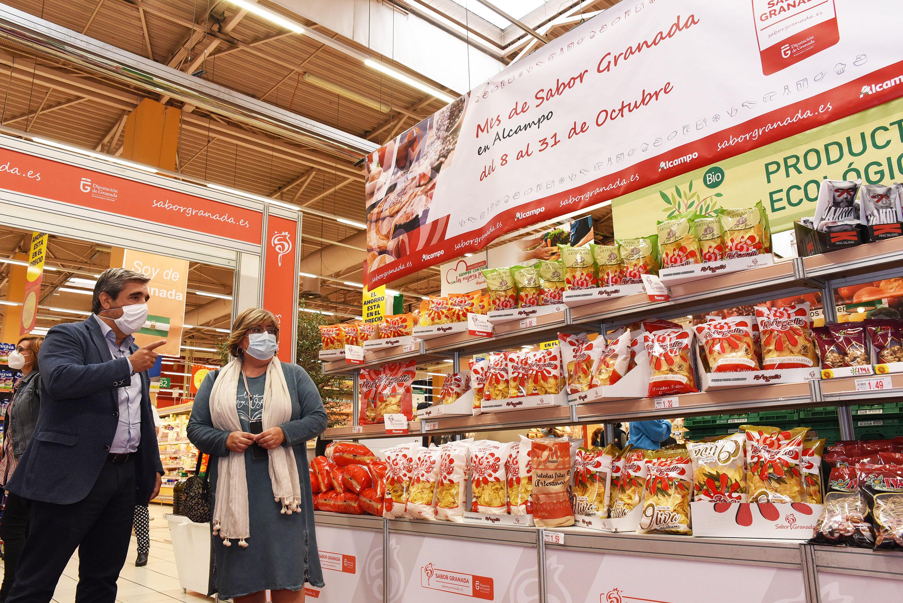 Los productos de Sabor Granada se promocionan en Alcampo