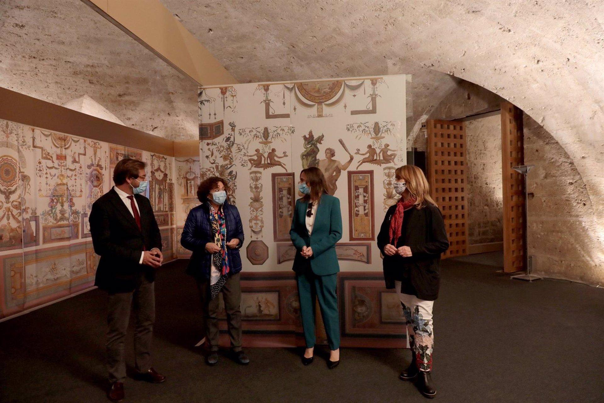 Una exposición profundiza en las pinturas murales de las Habitaciones del Emperador de la Alhambra