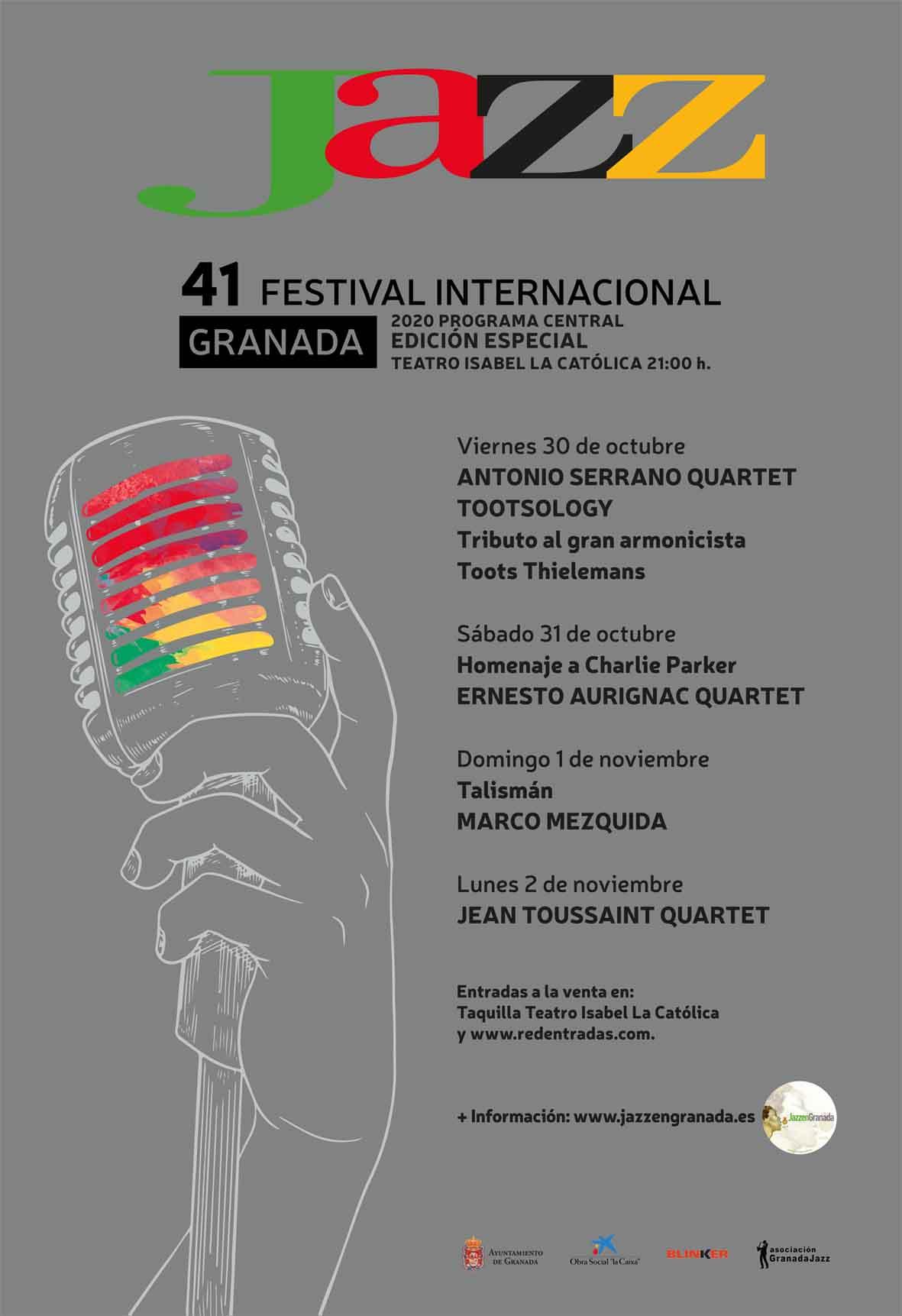 Suspendido el 41º Festival de Jazz de Granada por el cierre de la ciudad
