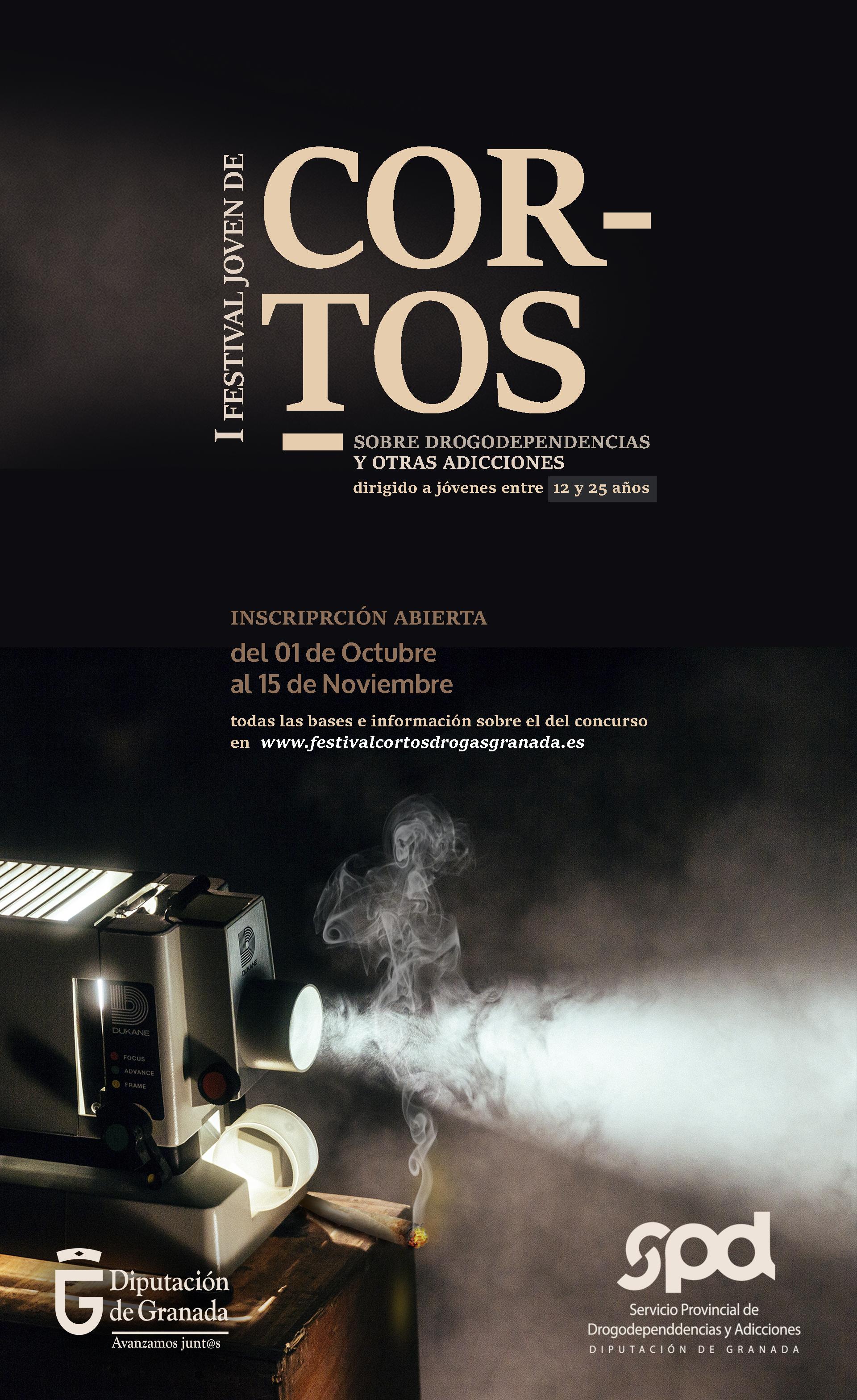 Diputación convoca un festival de cortos sobre drogas y adicciones dirigido a la población joven