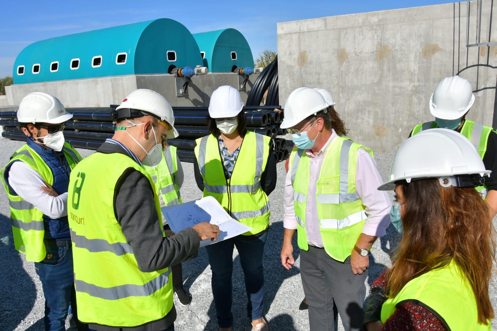 Las obras de construcción de la EDAR de Zújar rondan el 50% de ejecución