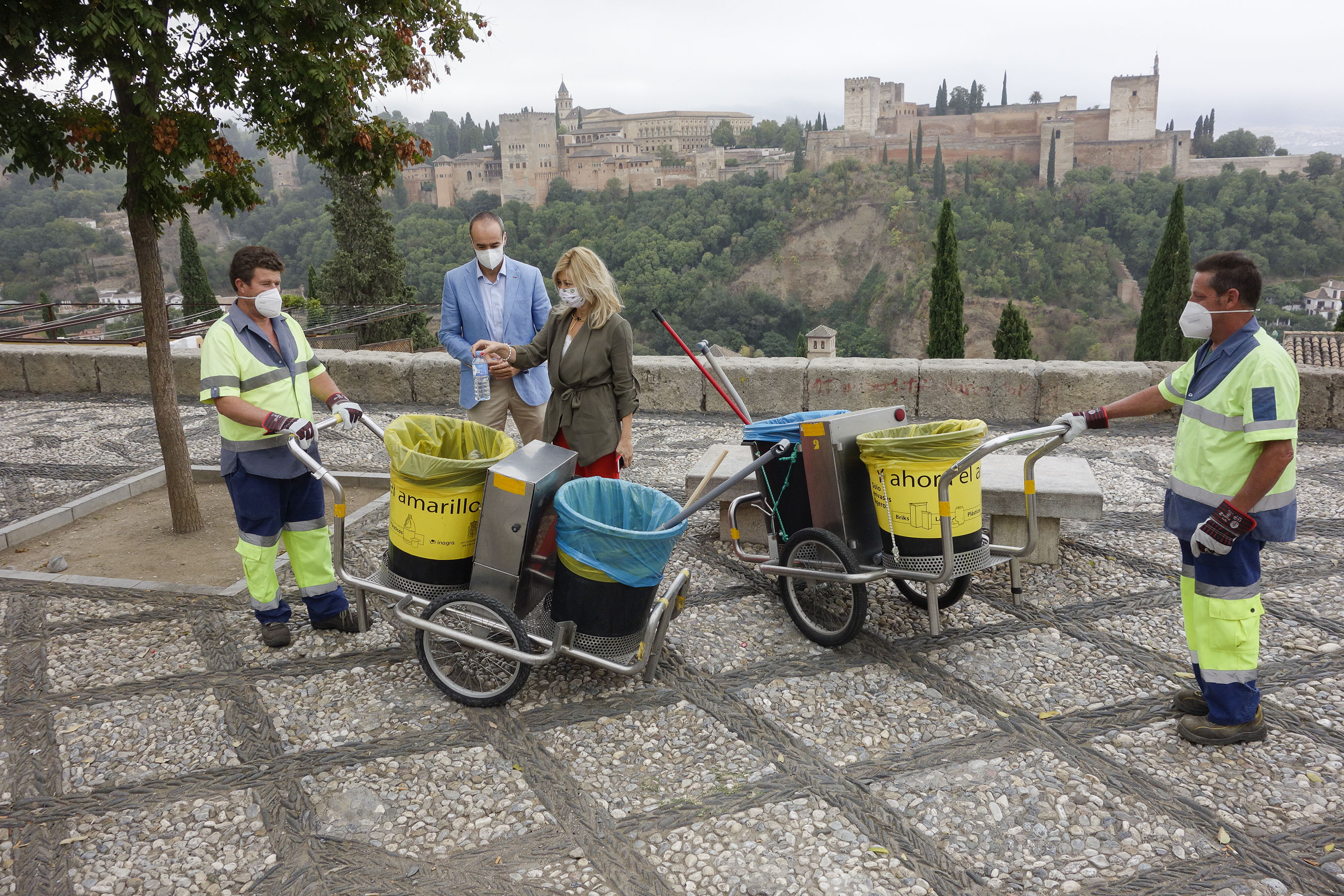 Inagra adapta su carros de limpieza para una recogida selectiva de residuos