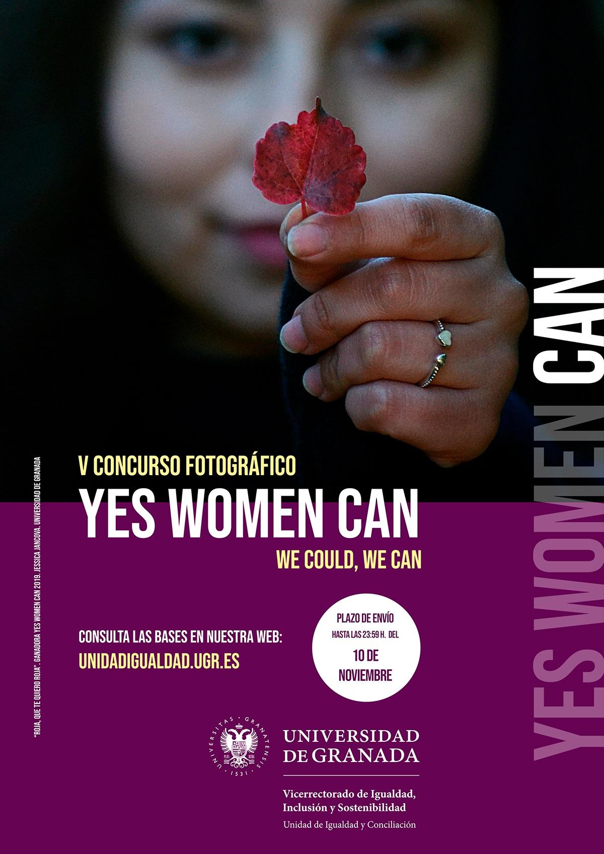 Abierta la inscripción para participar en la V Edición del Concurso fotográfico «YES WOMEN CAN, WE COULD, WE CAN»