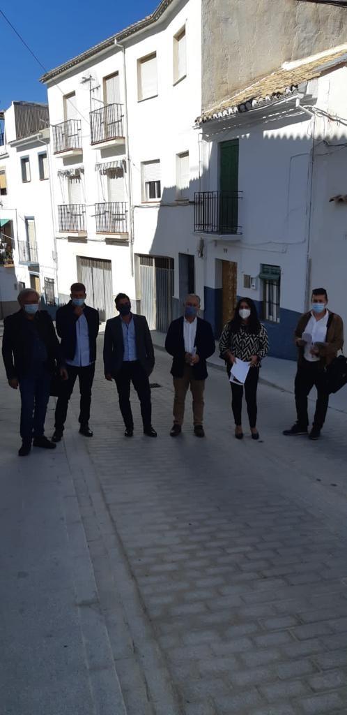 Concluye la reforma integral de dos calles del núcleo urbano de Montefrío