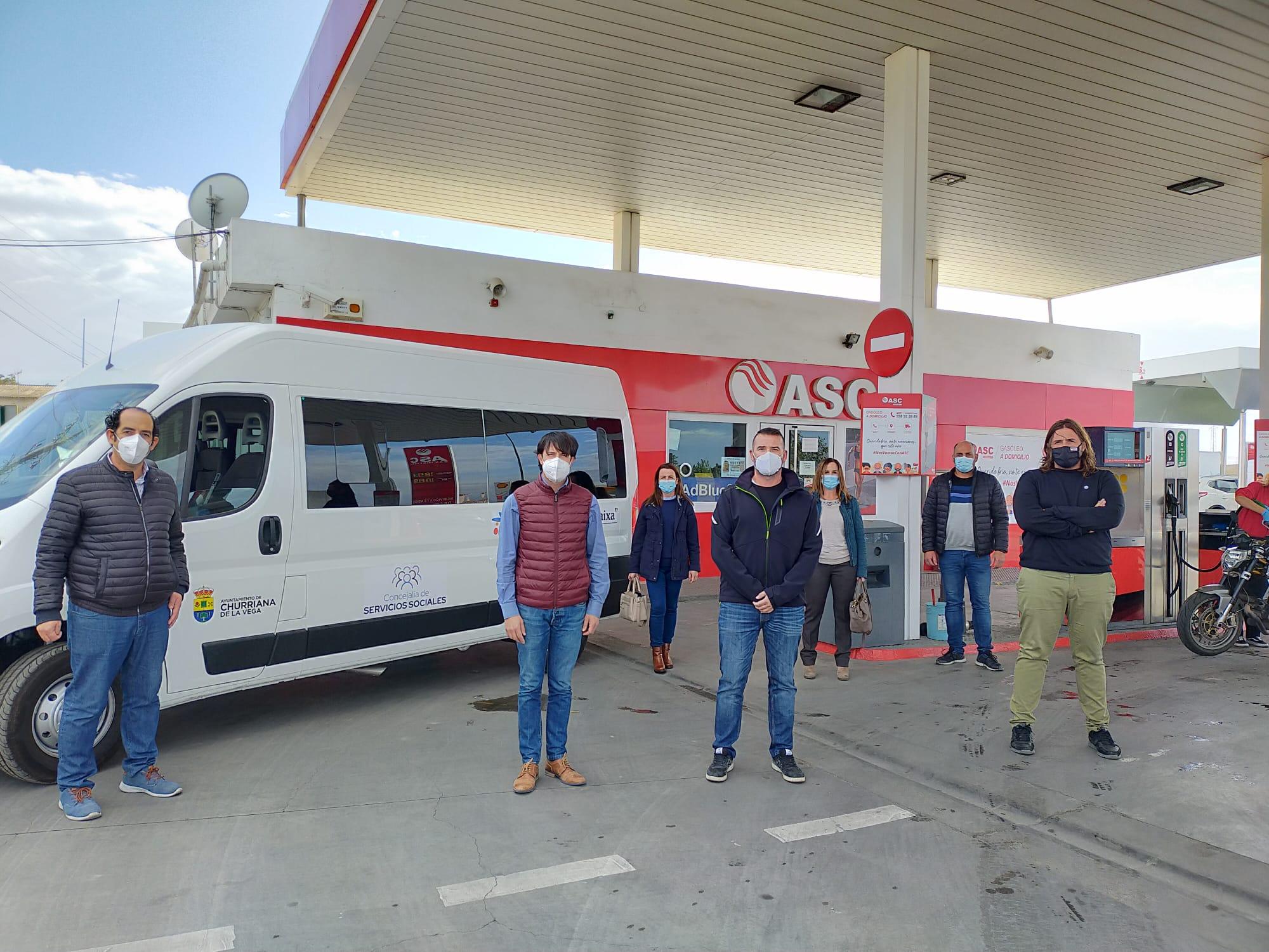 ASC Carburantes cubrirá todos los gastos de combustible del vehículo municipal de Servicios Sociales de Churriana