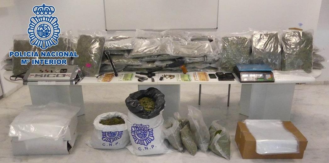 Desarticulan un grupo organizado dedicado a la venta de marihuana desde Granada al Este de Europa