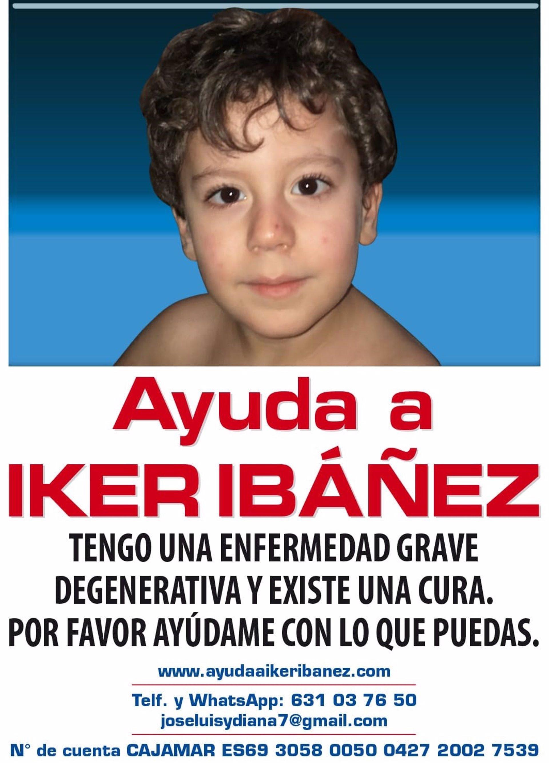 Recaudan fondos para ayudar a Iker, un niño con cinco años con una enfermedad rara degenerativa