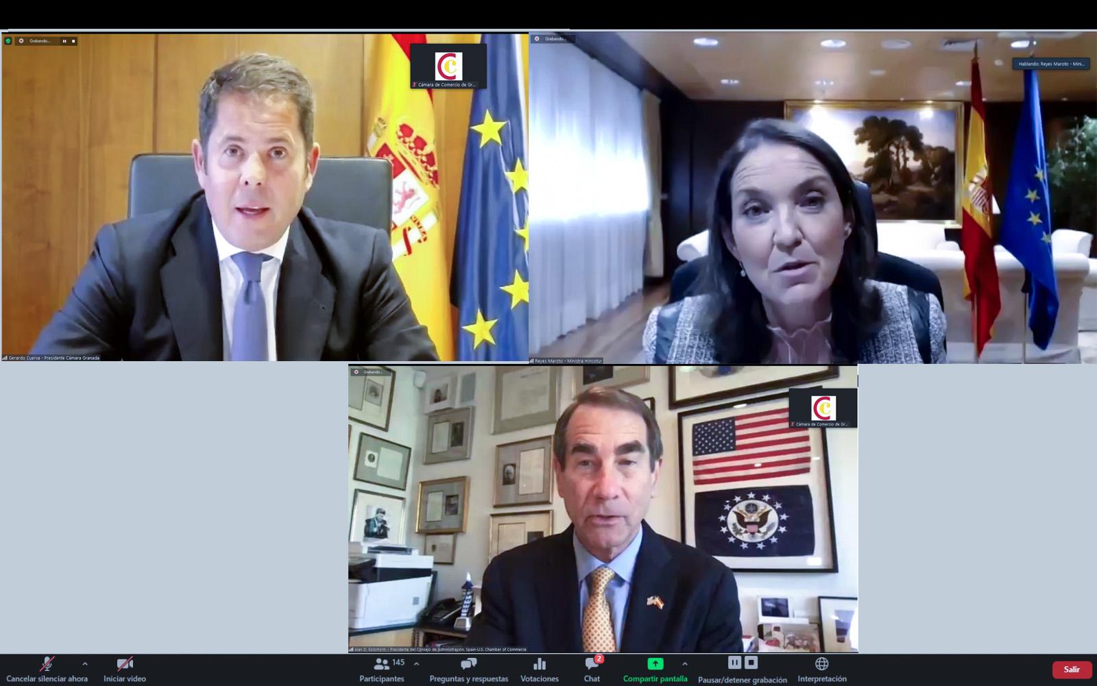 La ministra de Industria anuncia desde Granada un plan de choque para apoyar la internacionalización de las empresas