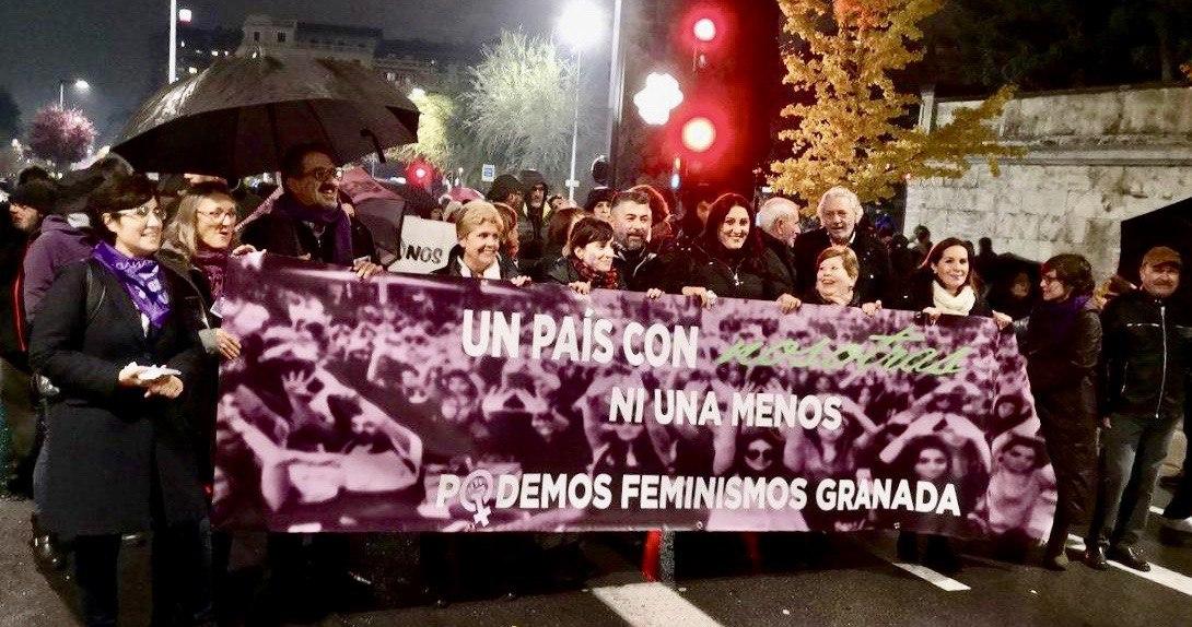Podemos Granada reivindica los avances del Gobierno central para afianzar el Pacto de Estado contra la Violencia de Género