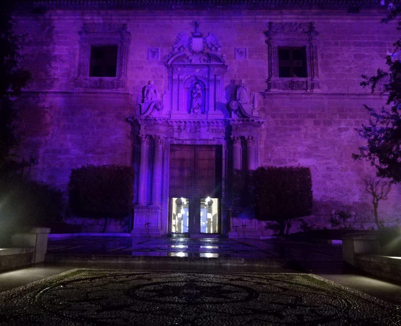 #25N: El Hospital Real se ilumina de violeta por el Día Internacional por la Eliminación de las Violencias hacia las Mujeres