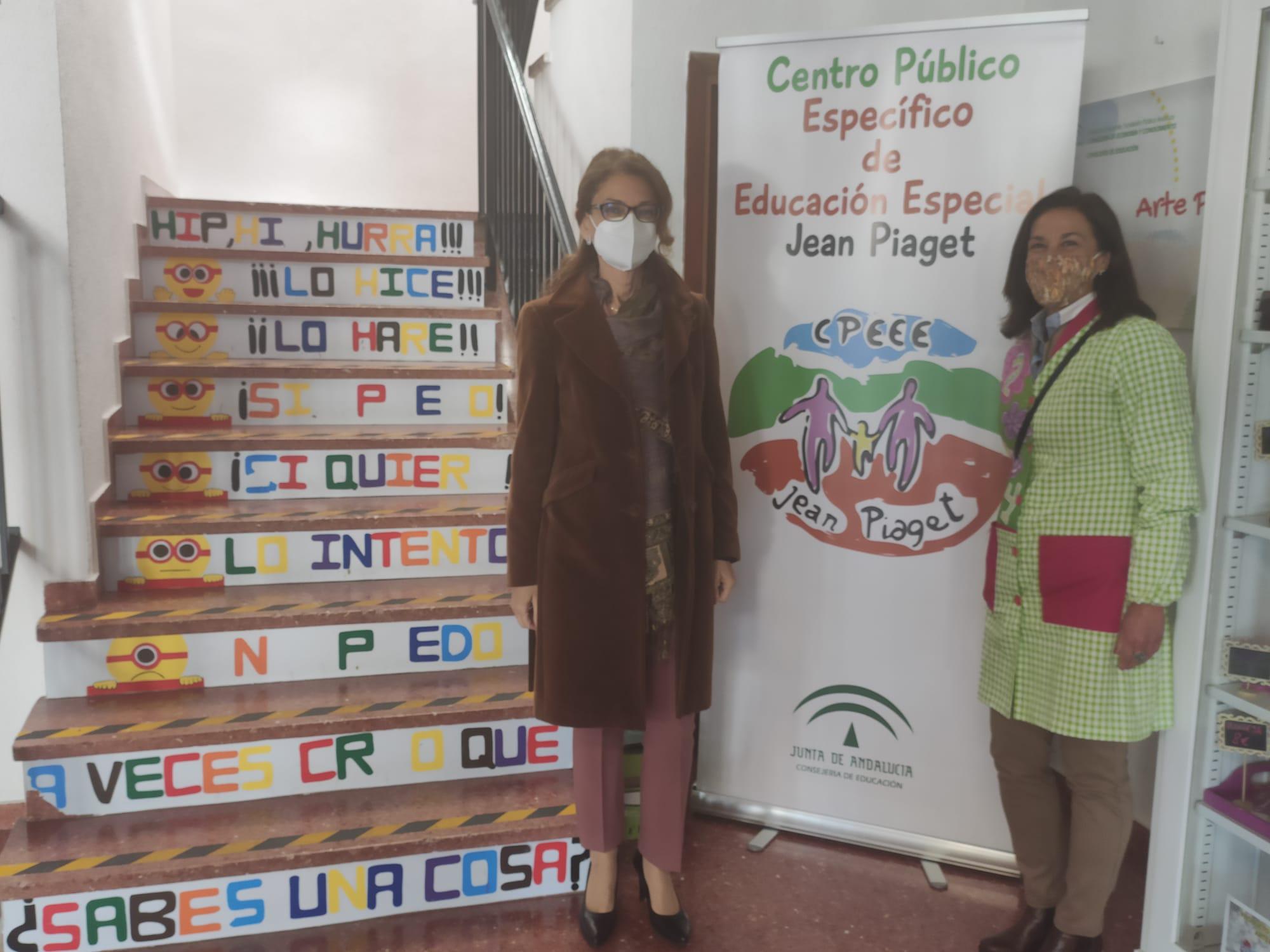 La delegada de Educación visita el centro específico de Educación Especial Jean Piaget de Ogíjares