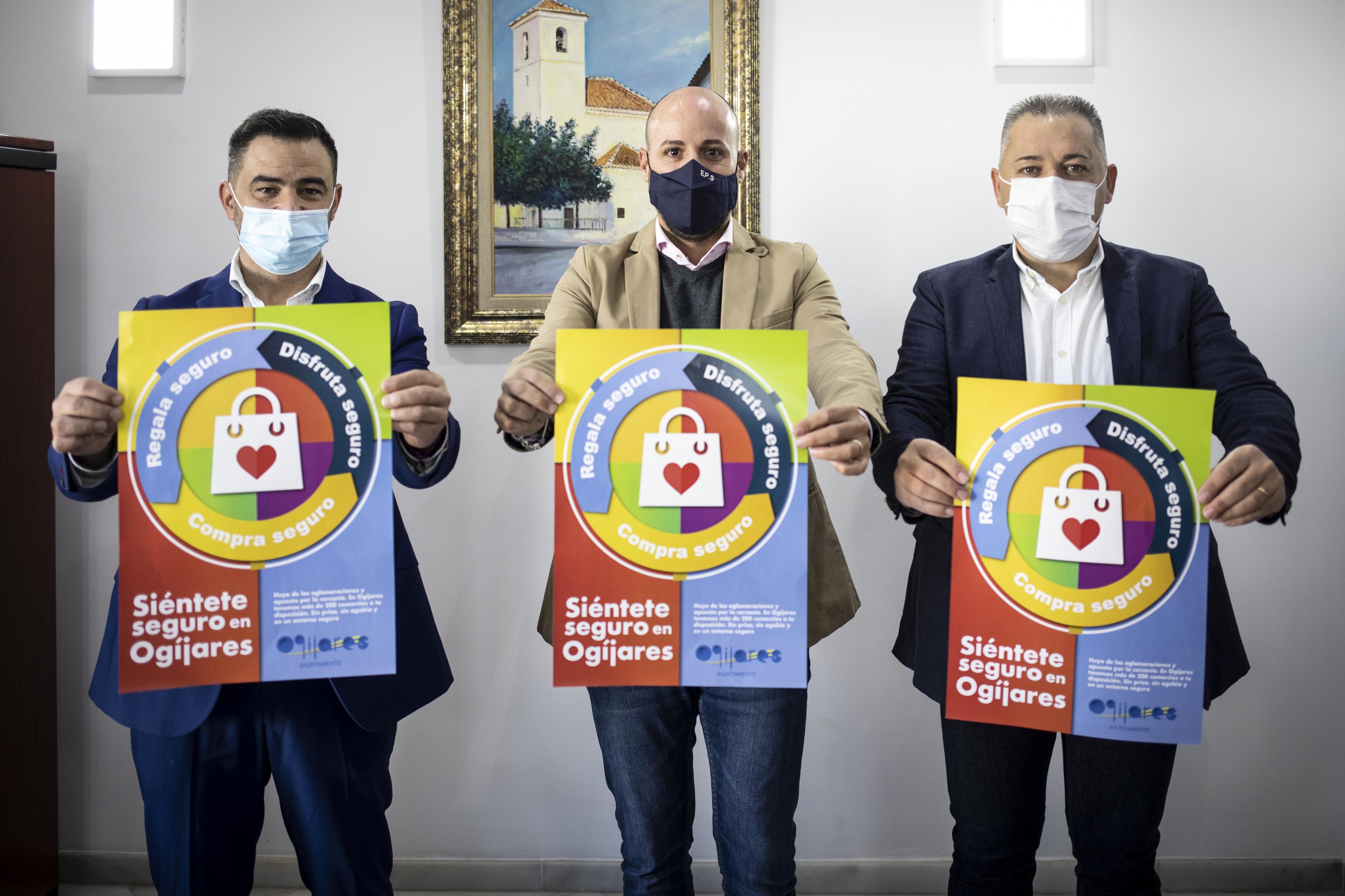 'Siéntete seguro en Ogíjares', campaña de apoyo al comercio local