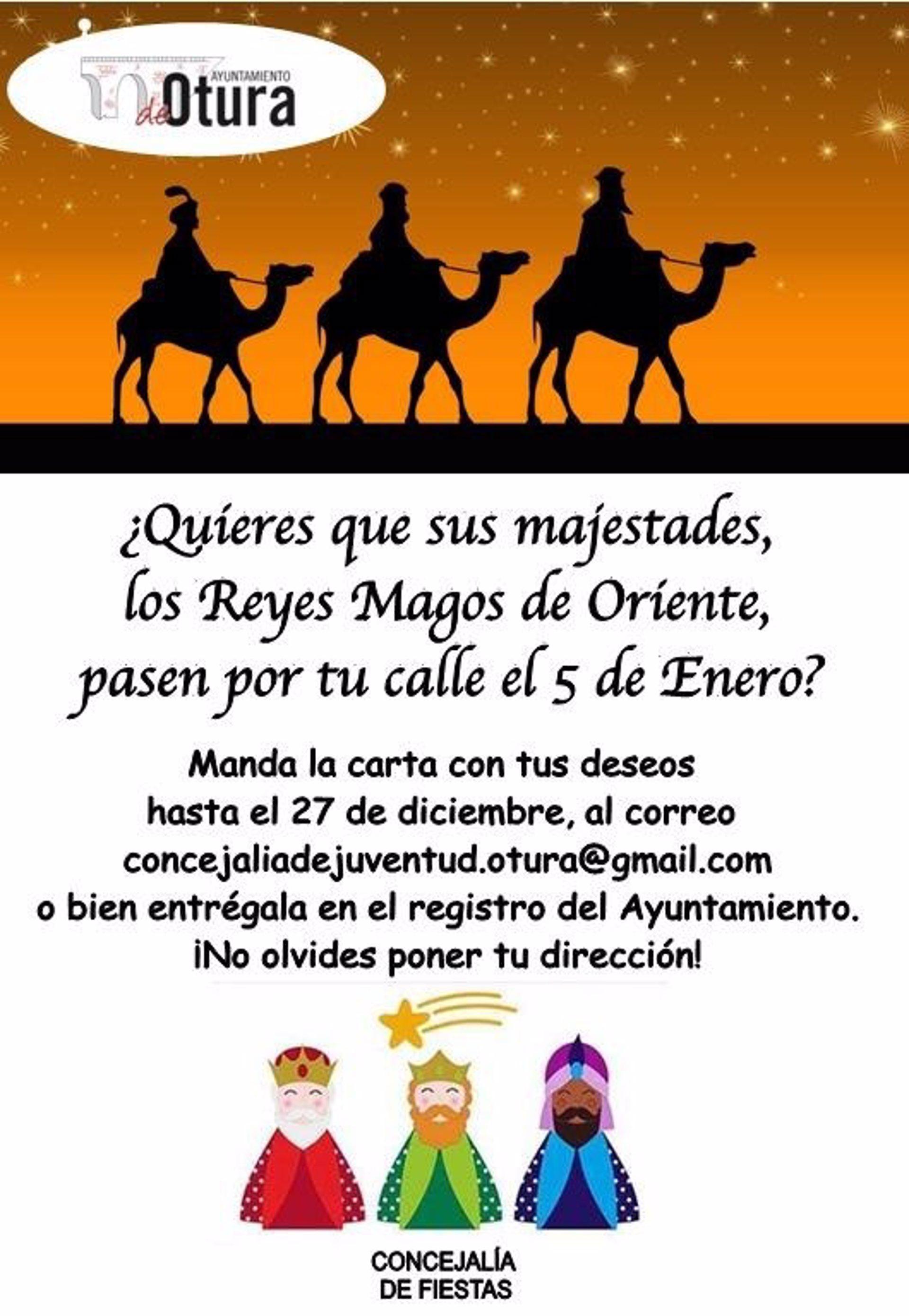 Otura prepara una Cabalgata de Reyes «a domicilio» para que los niños la vean desde sus ventanas