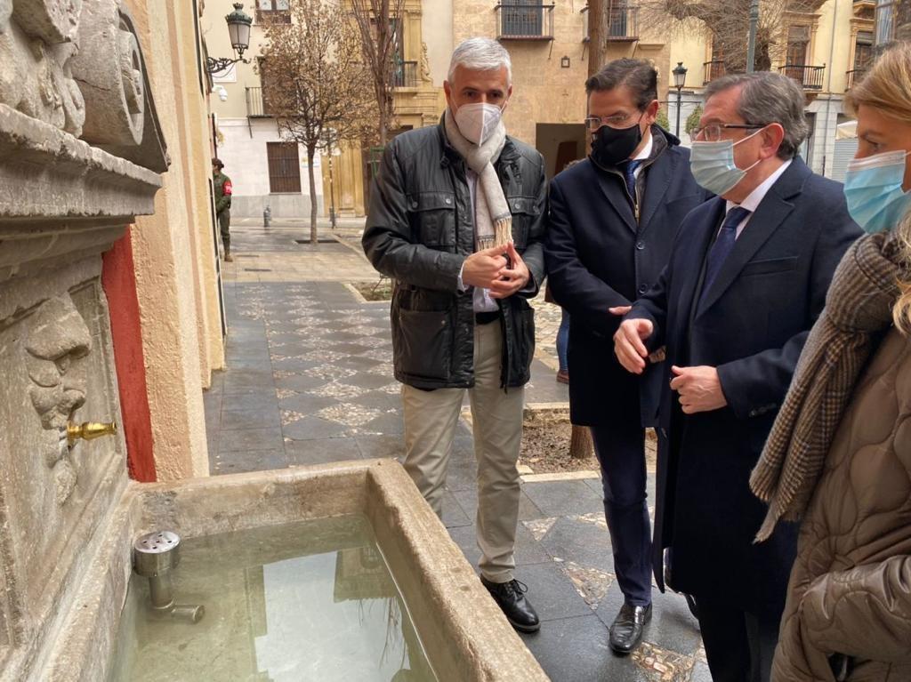 Presentan la restauración del Pilar de Don Pedro