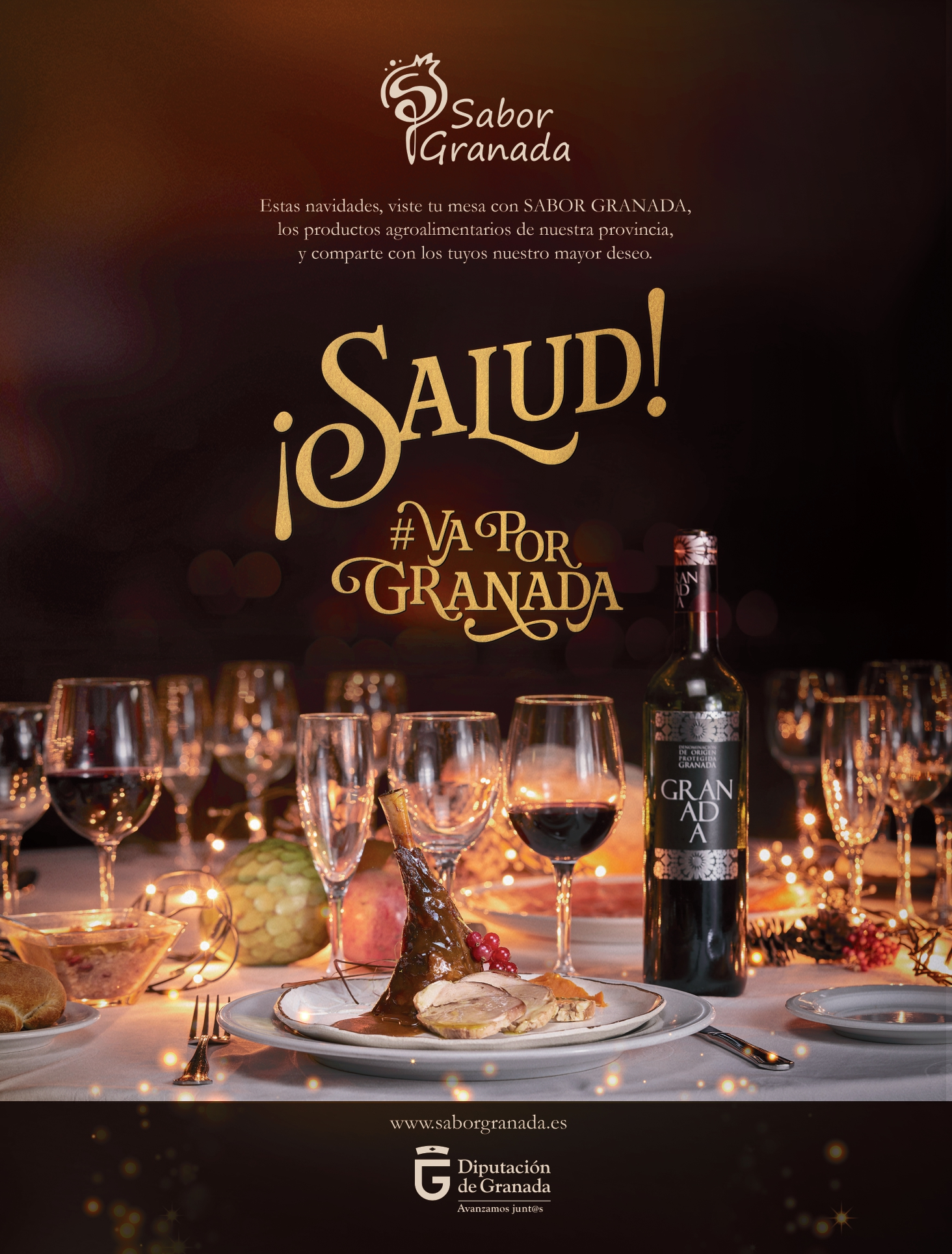 """""""Salud, va por Granada"""", lema para promover el consumo de productos Sabor Granada en Navidad"""