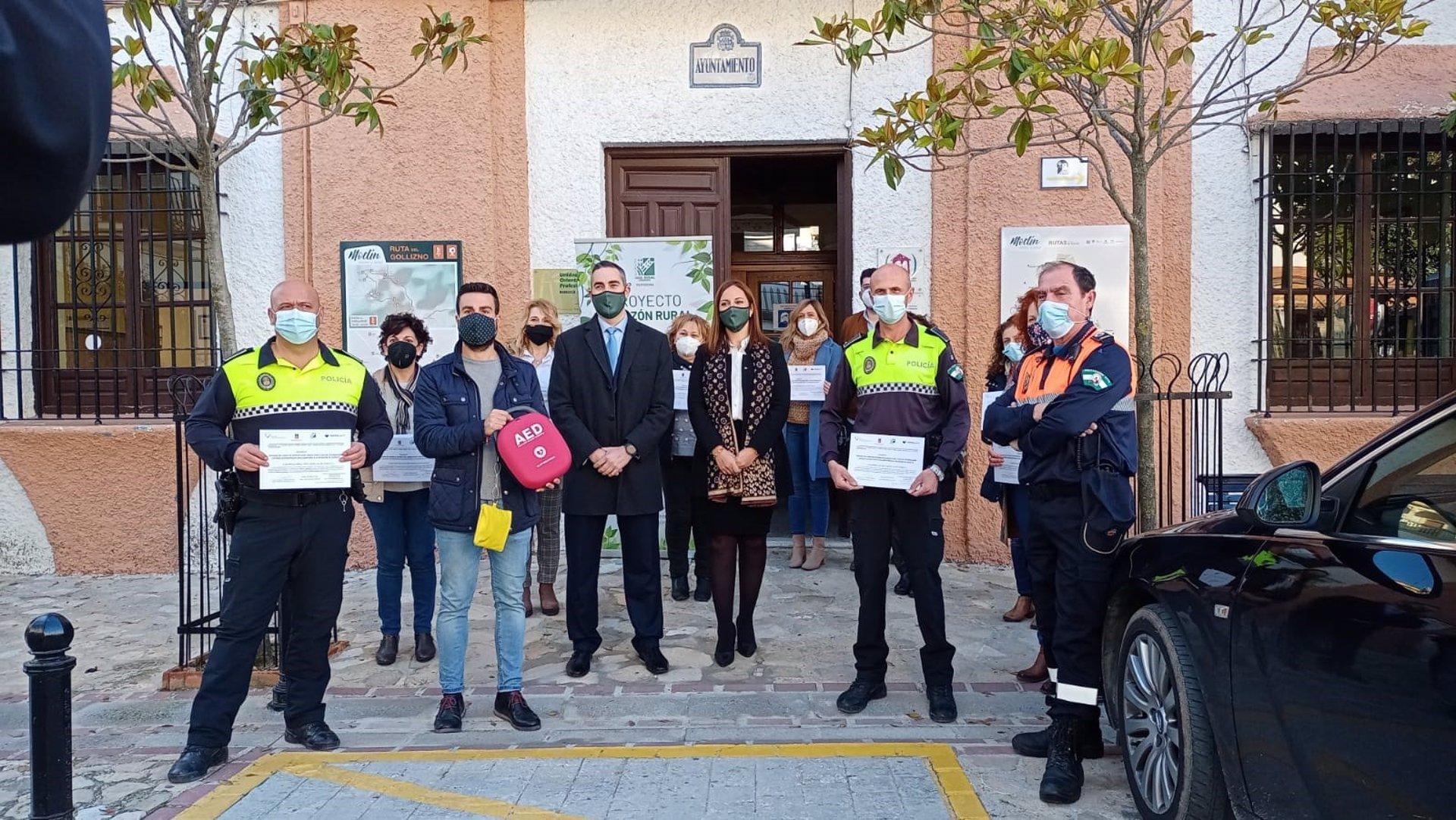 Fundación Caja Rural cardioprotege los municipios de Moclín y Guadix