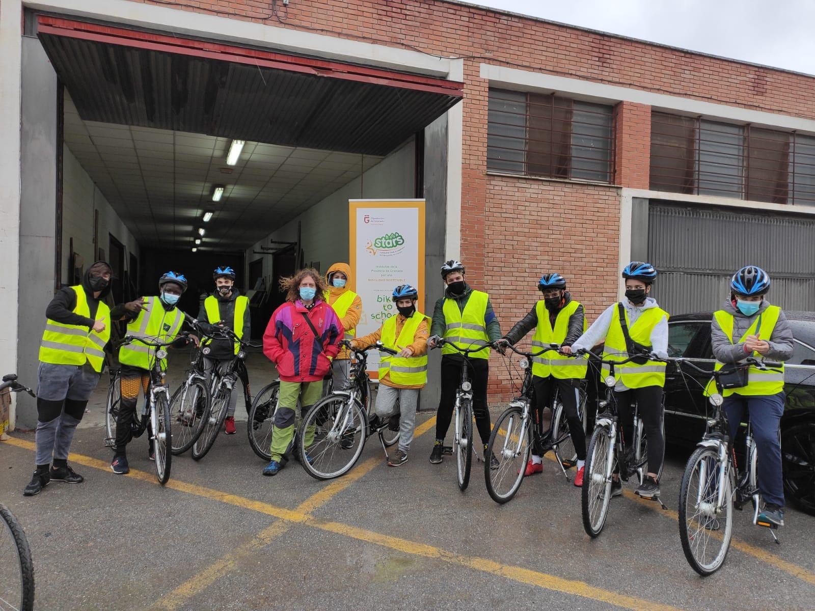 """cuatro municipios participan ya en el proyecto de movilidad sostenible entre escolares """"Stars Granada"""""""