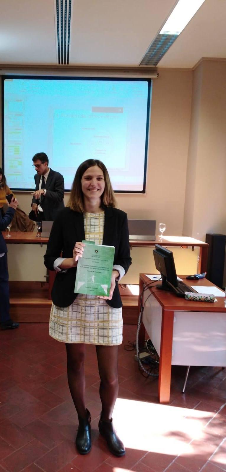 La profesora de la UGR, María del Mar Haro, recibe el premio a la mejor tesis del mundo en Traducción e Interpretación