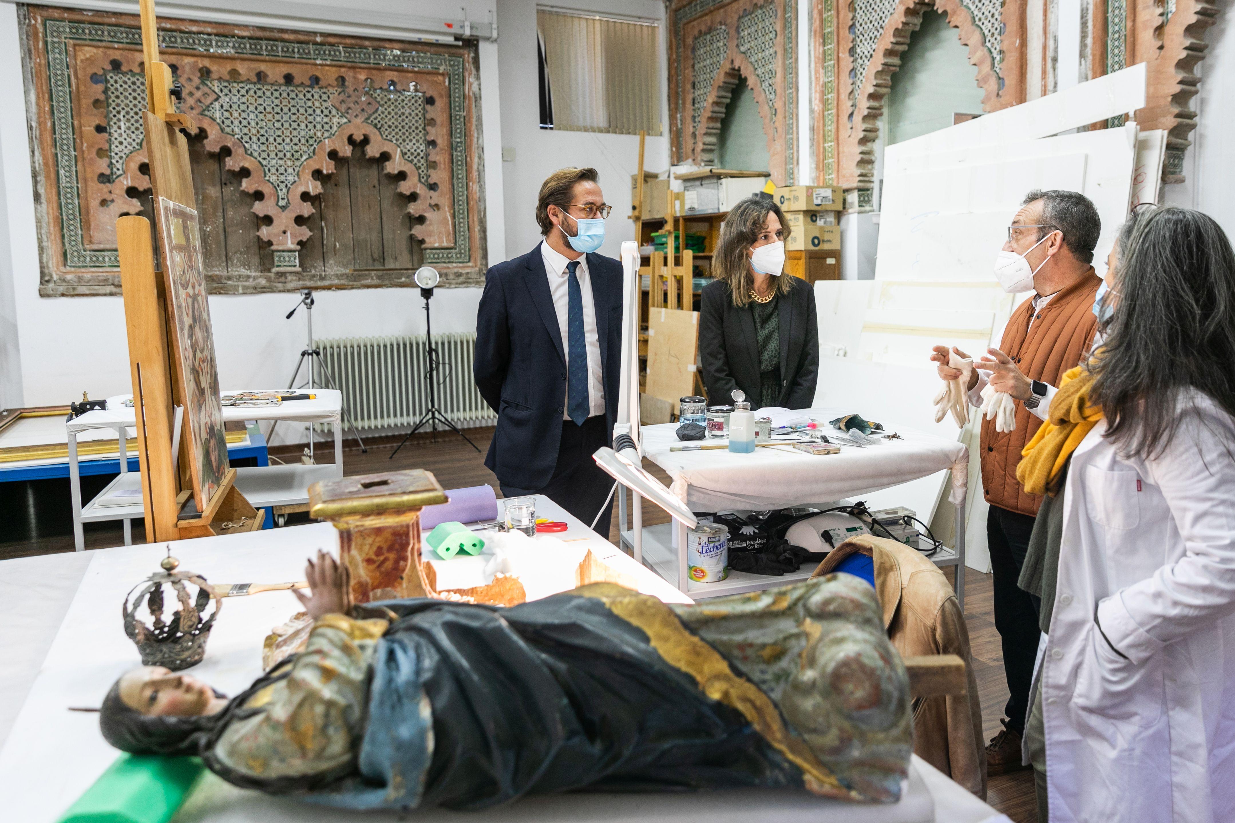 Cultura invierte más de 30.000 euros en la restauración de siete piezas depositadas en el Museo de Bellas Artes