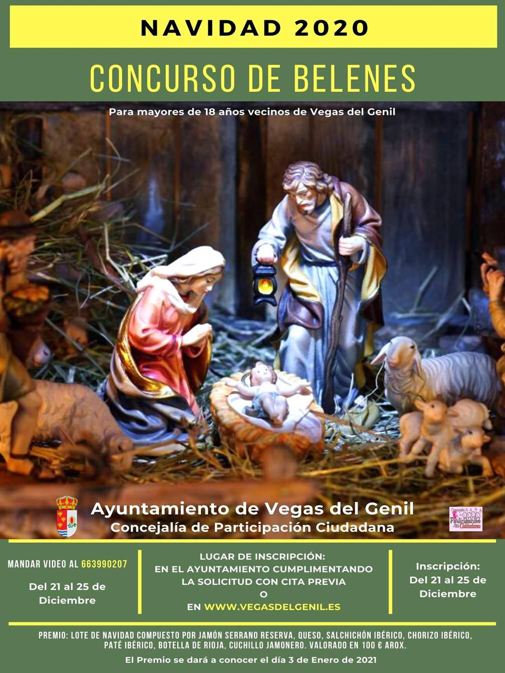 Concurso en Vegas de Genil de belenes y fachadas  con motivos navideños
