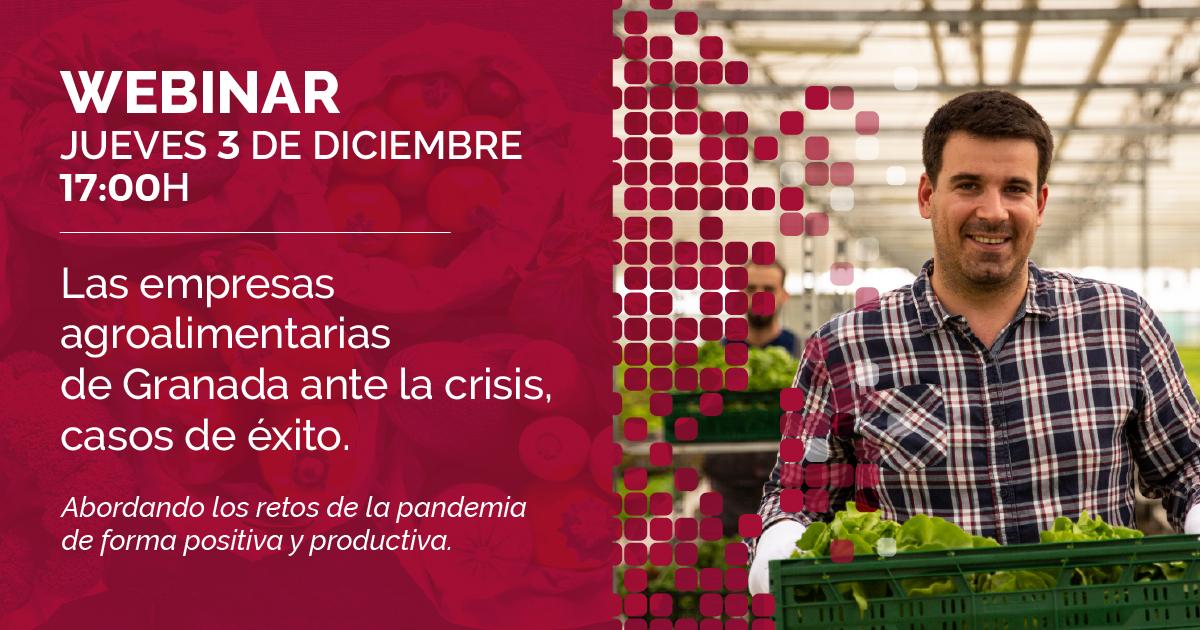 Organizan un seminario virtual sobre las empresas agroalimentarias de Granada ante la crisis